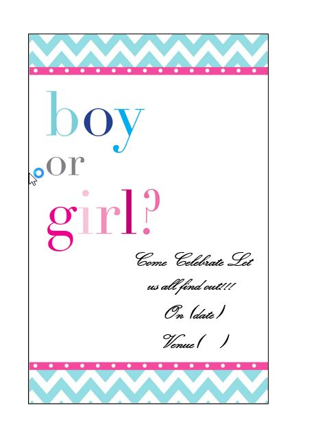 Free Gender Reveal Invitation Template 17