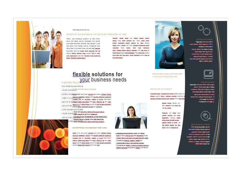 Free Word Template Brochure Yeniscale