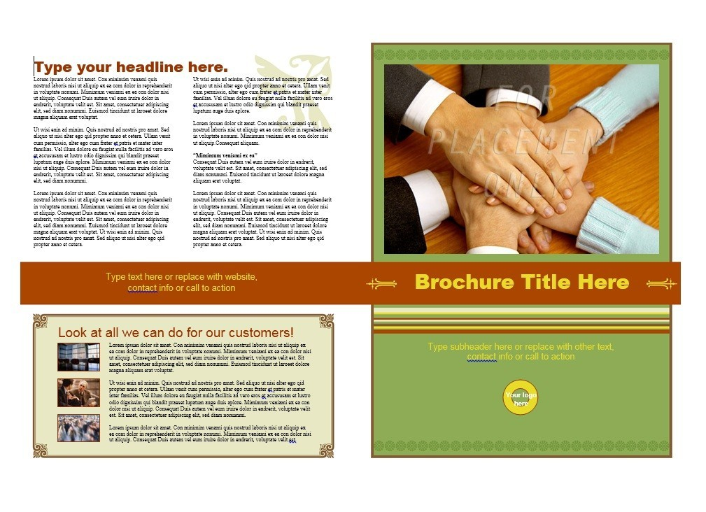 Printable Brochure Template 02  Brochure Word Templates