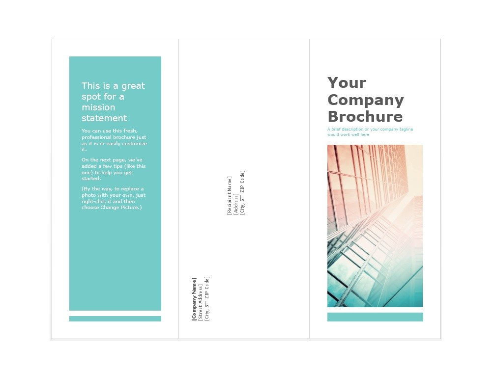 31 free brochure templates word pdf template lab for Free template brochure word