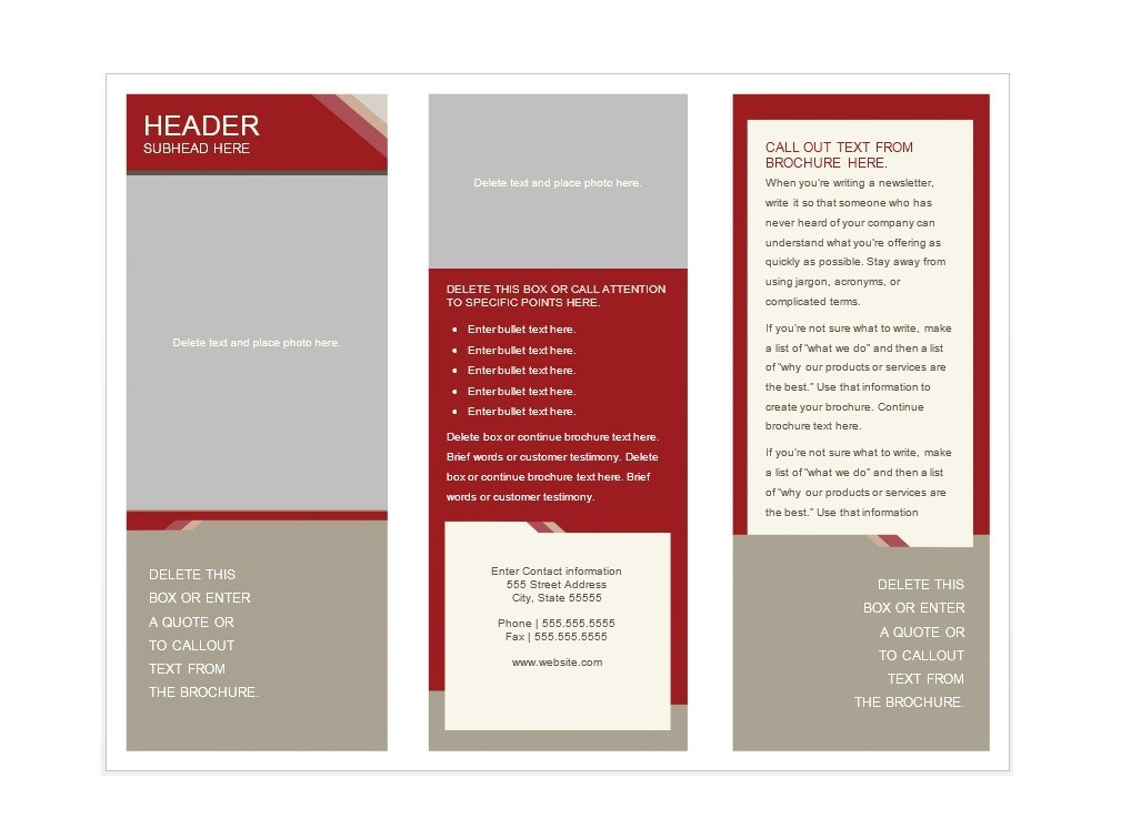 31 free brochure templates word pdf template lab for Template of a brochure