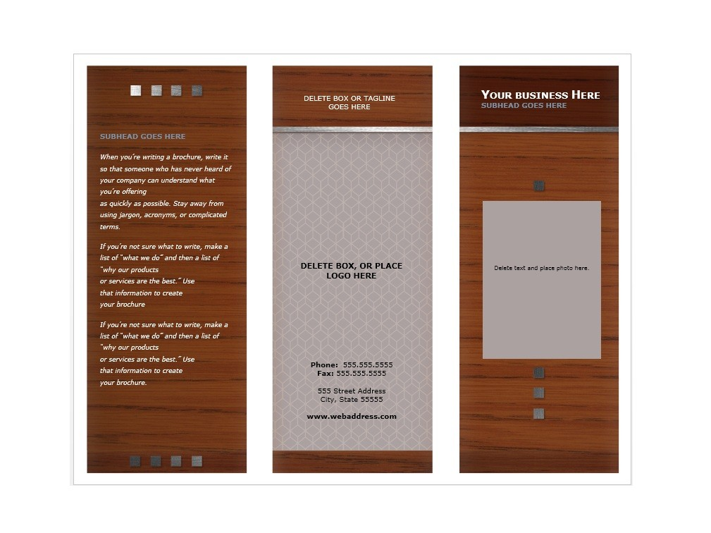 31 free brochure templates  word   pdf