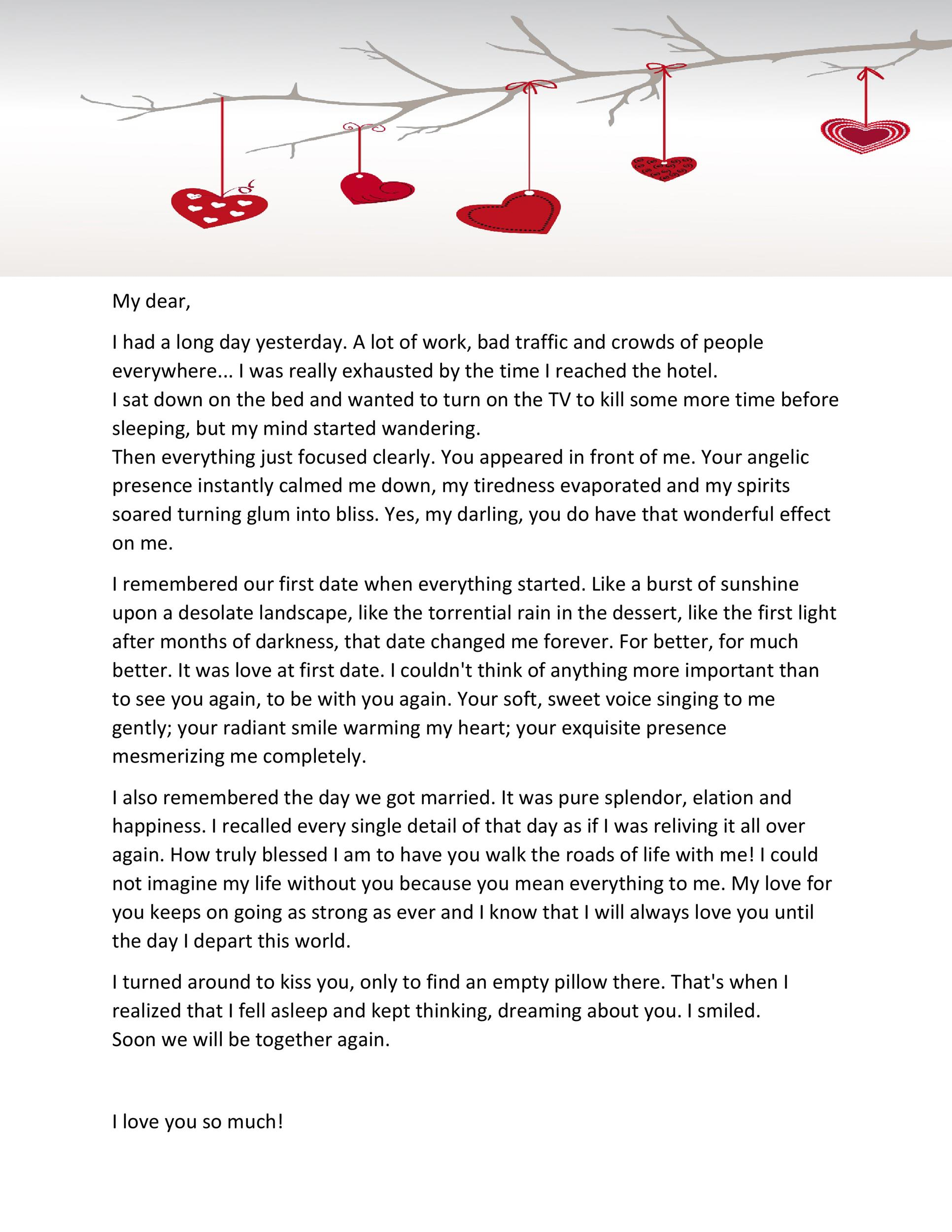 Free Love Letter Template 02