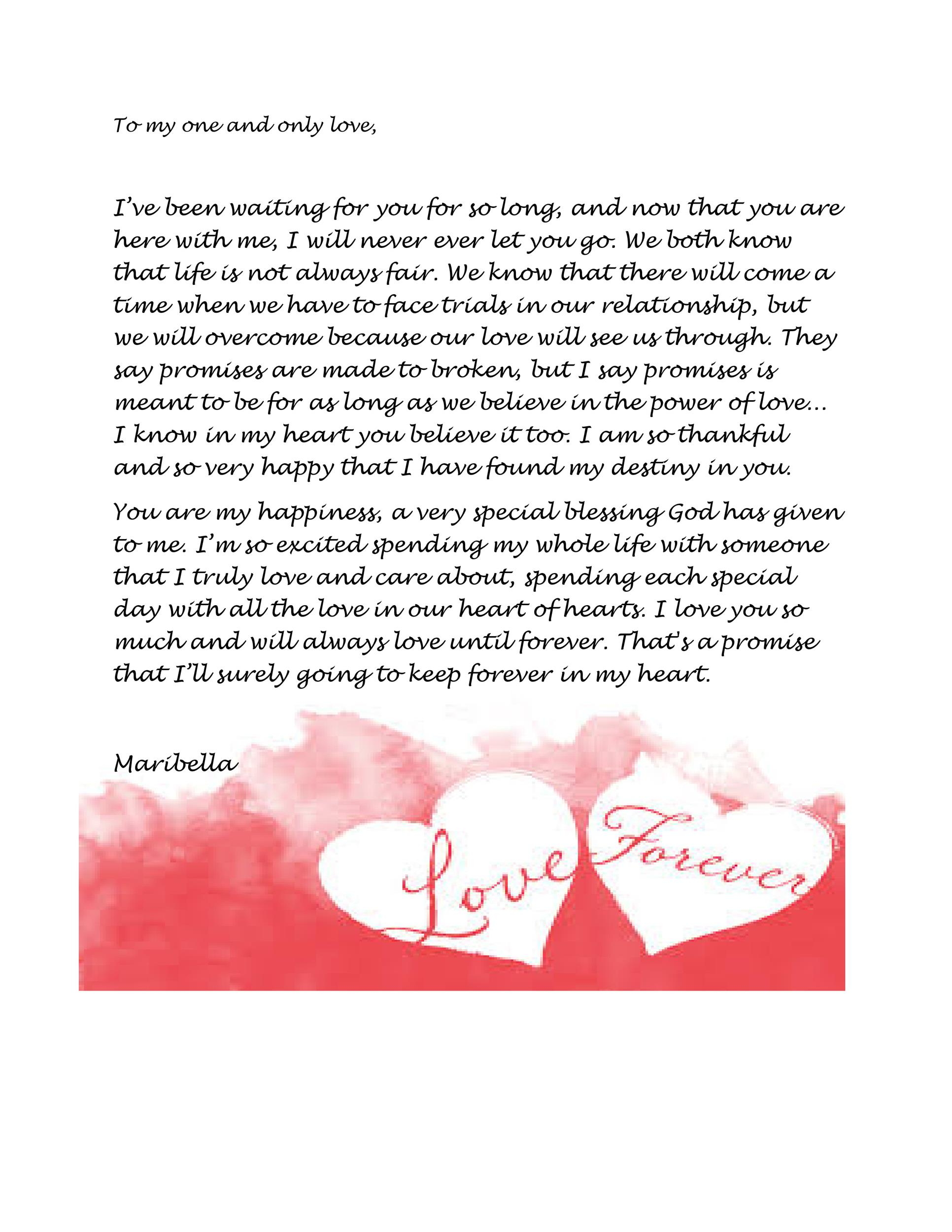 Romantic Love Letters Sample Romantic Love Letter Documents In Word