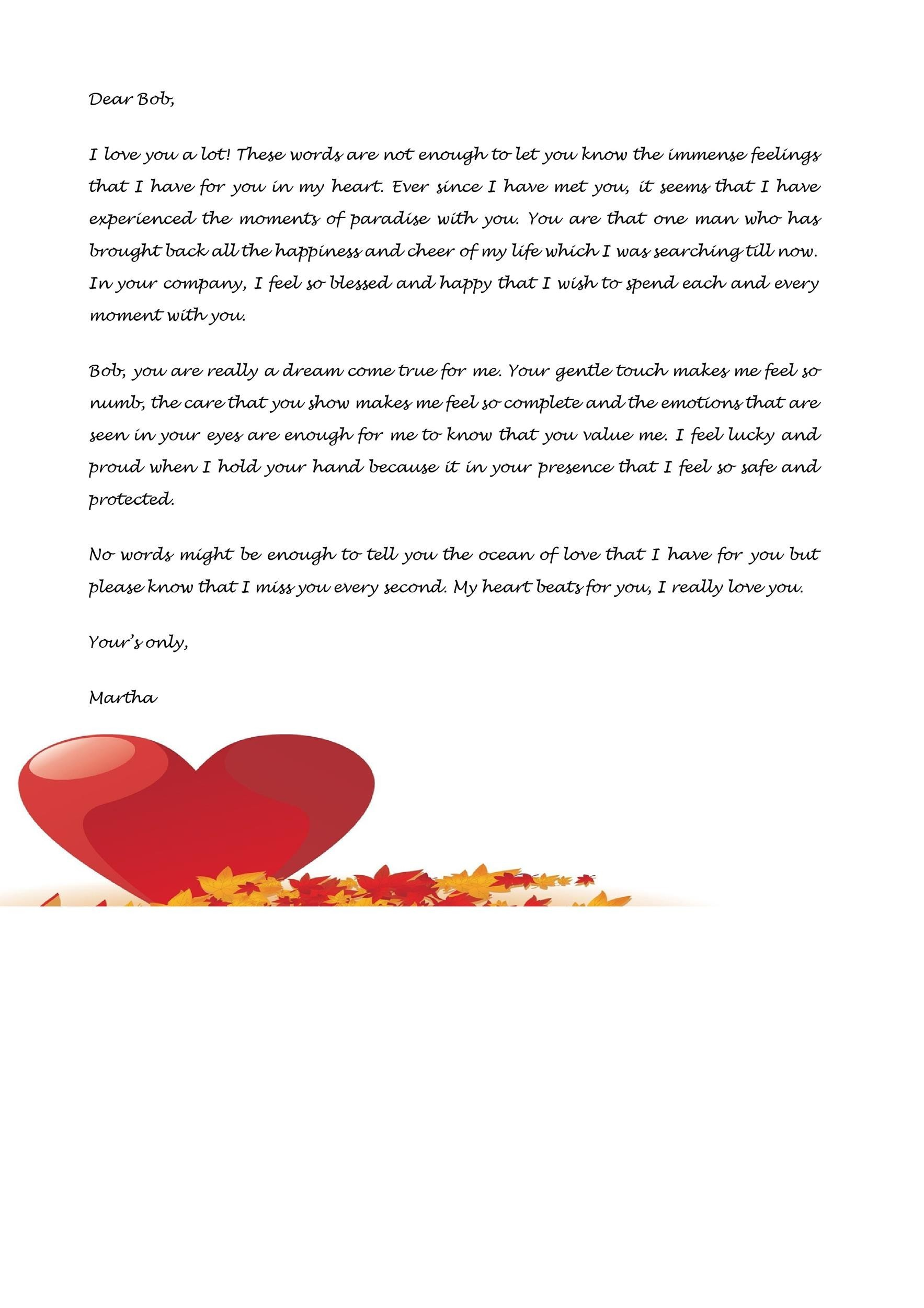 Free Love Letter Template 05