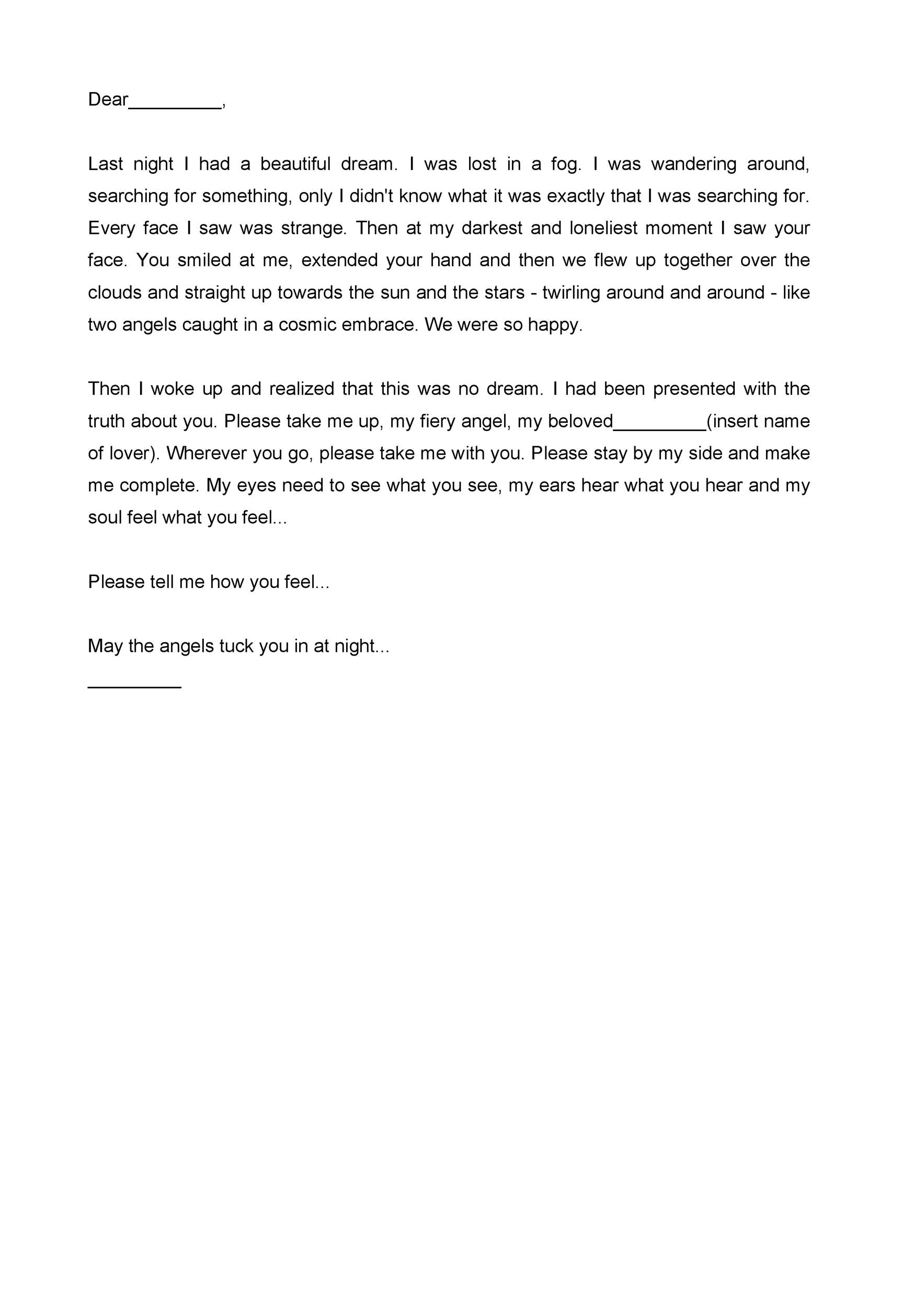 Free Love Letter Template 08