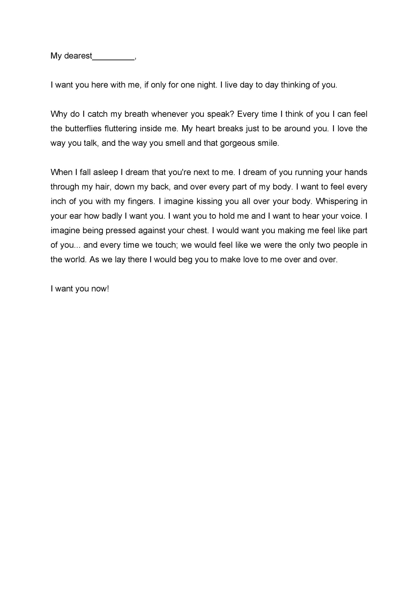 Free Love Letter Template 10