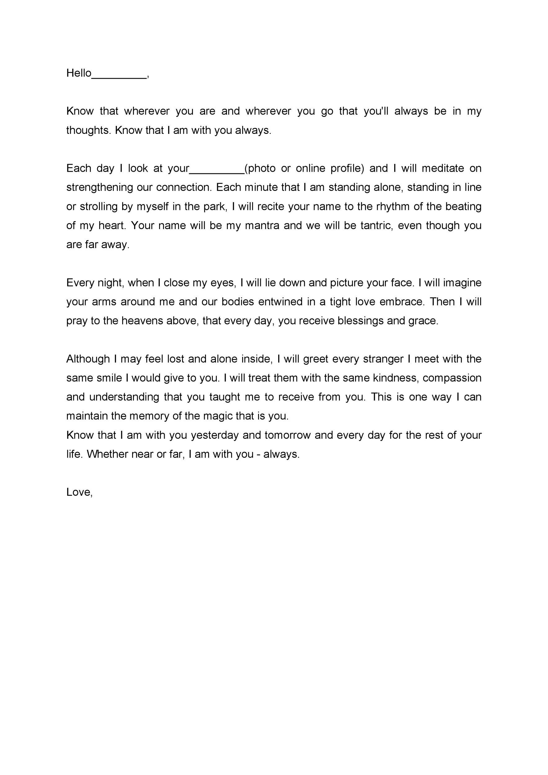 Free Love Letter Template 12