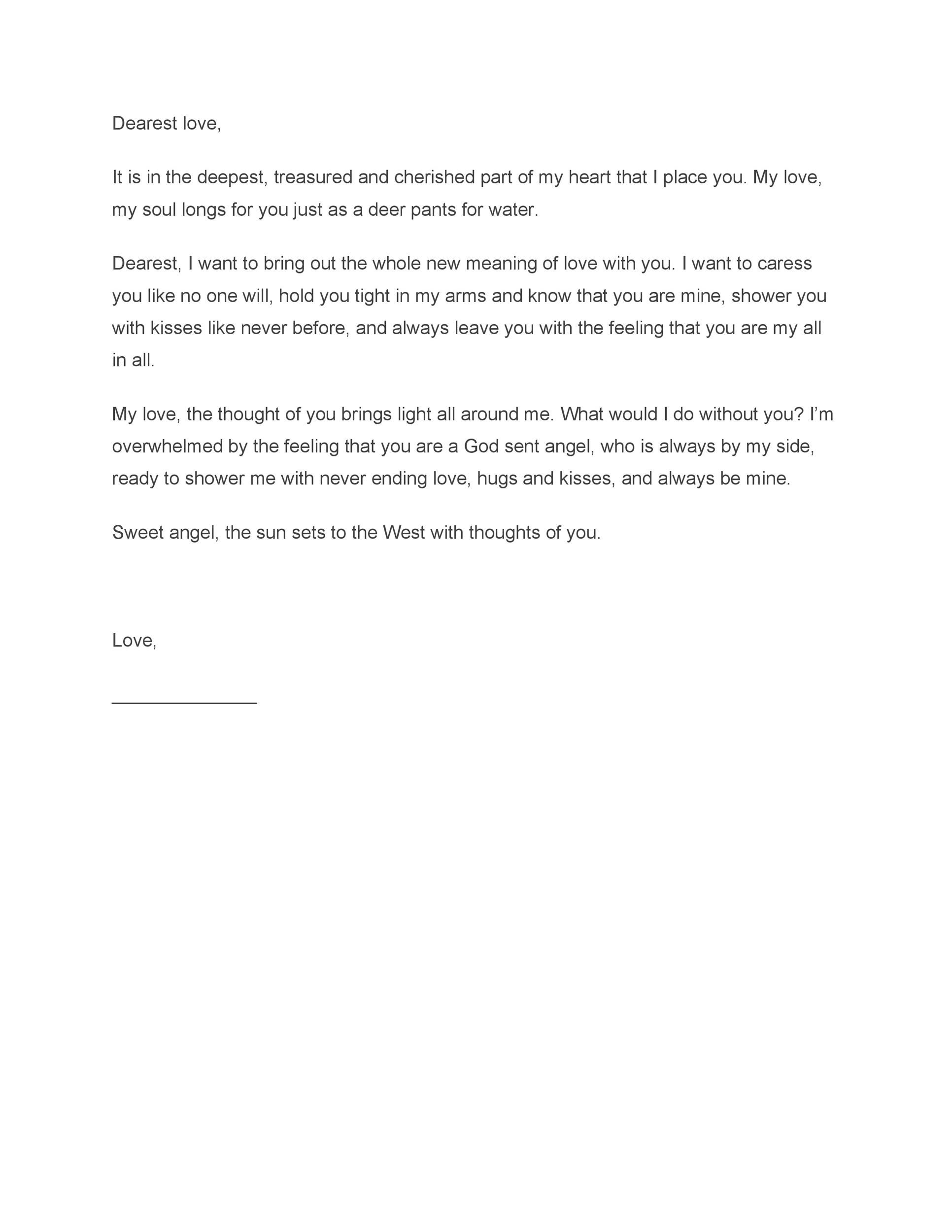 Free Love Letter Template 13