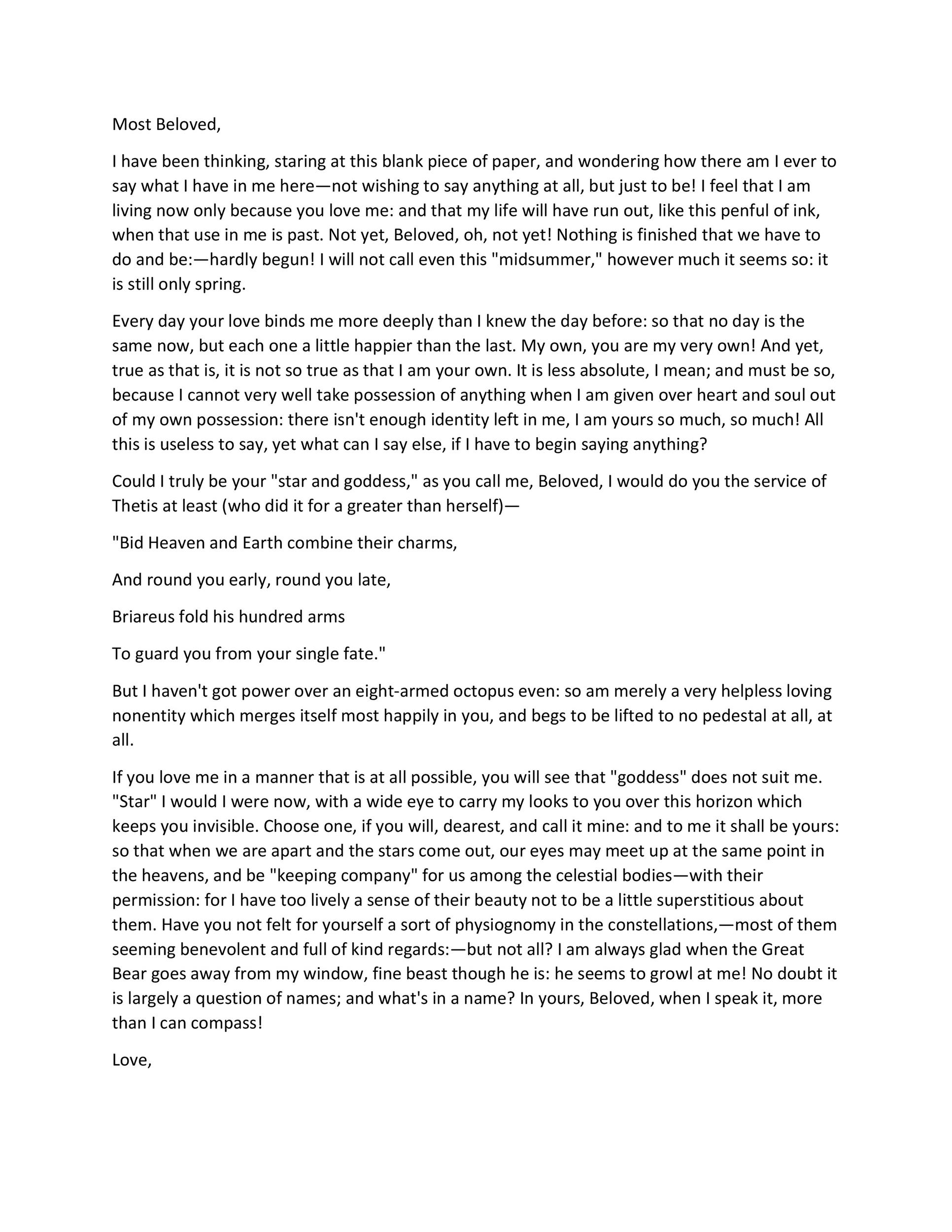 Free Love Letter Template 16