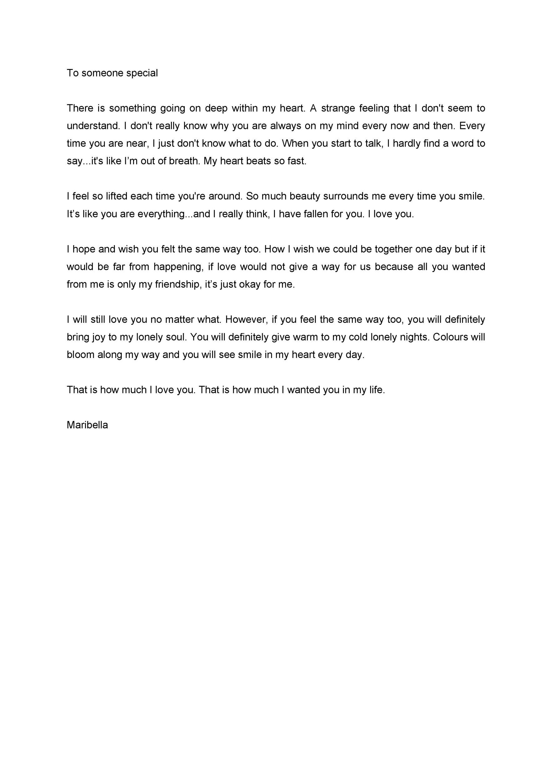 Free Love Letter Template 18