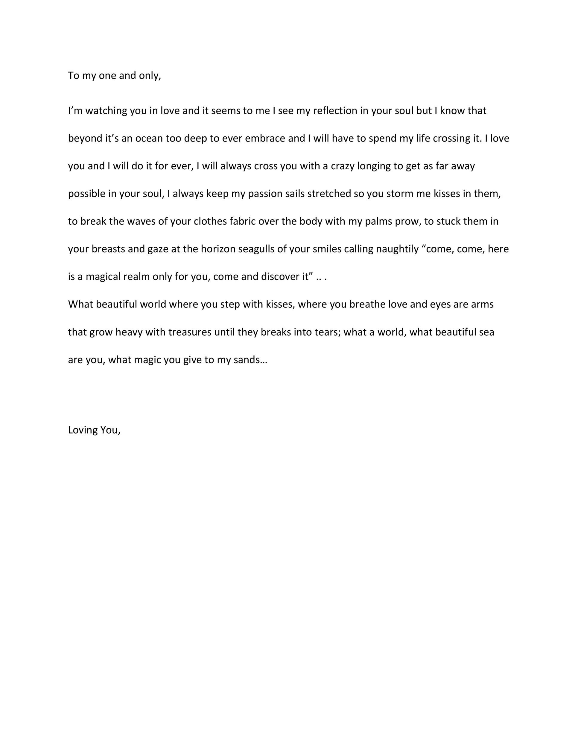 Free Love Letter Template 23