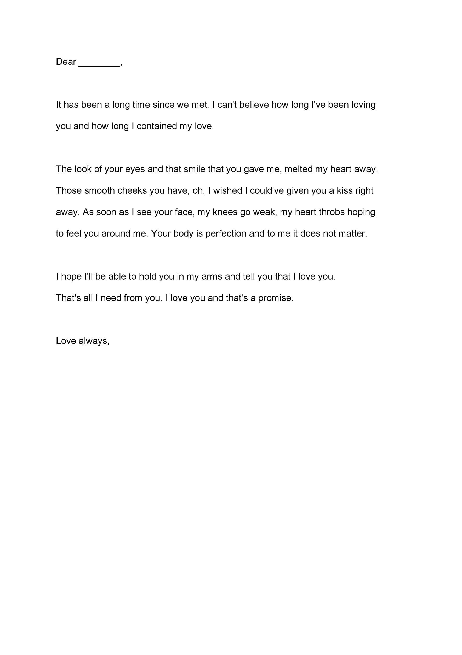 Free Love Letter Template 24