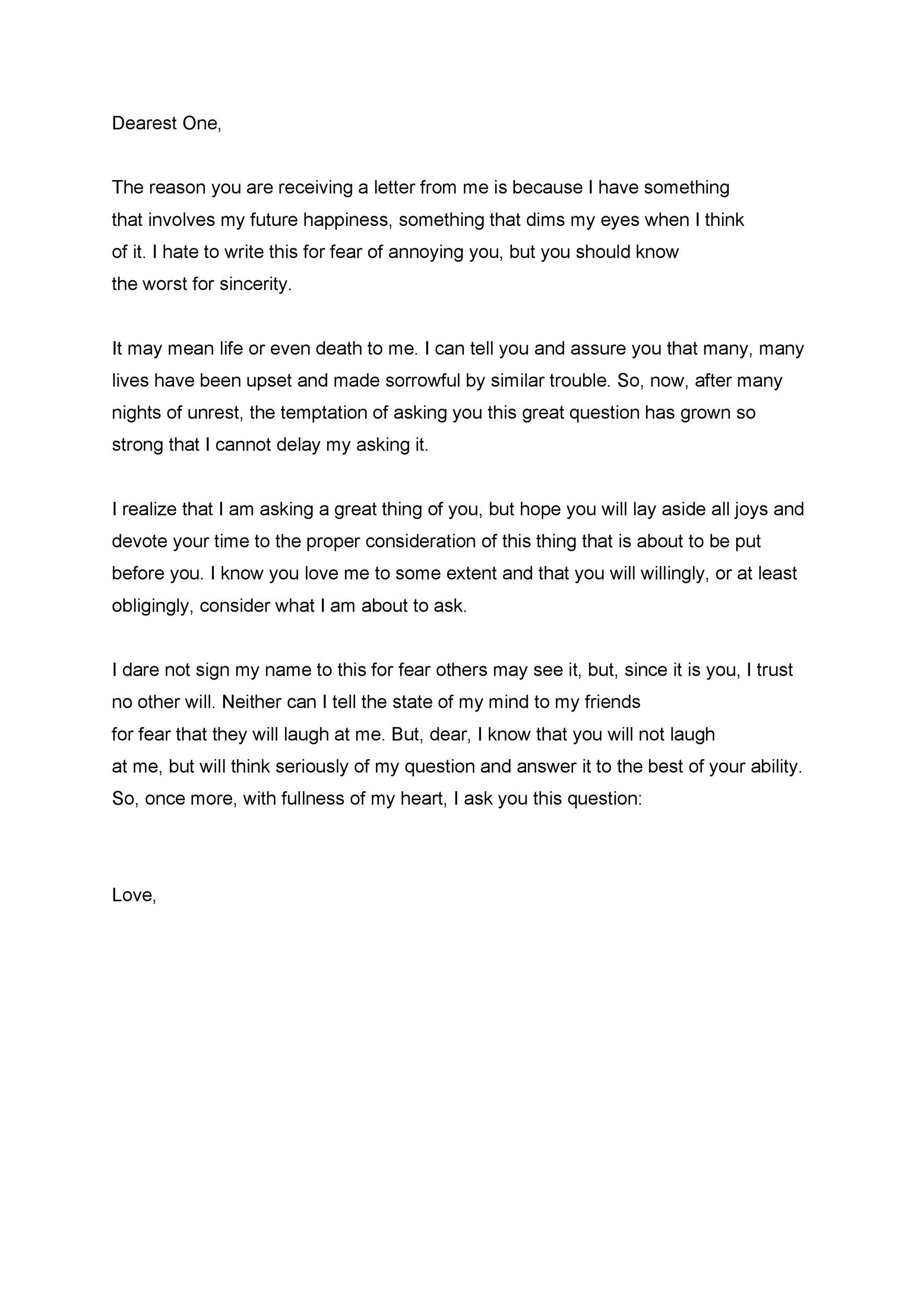 Free Love Letter Template 25