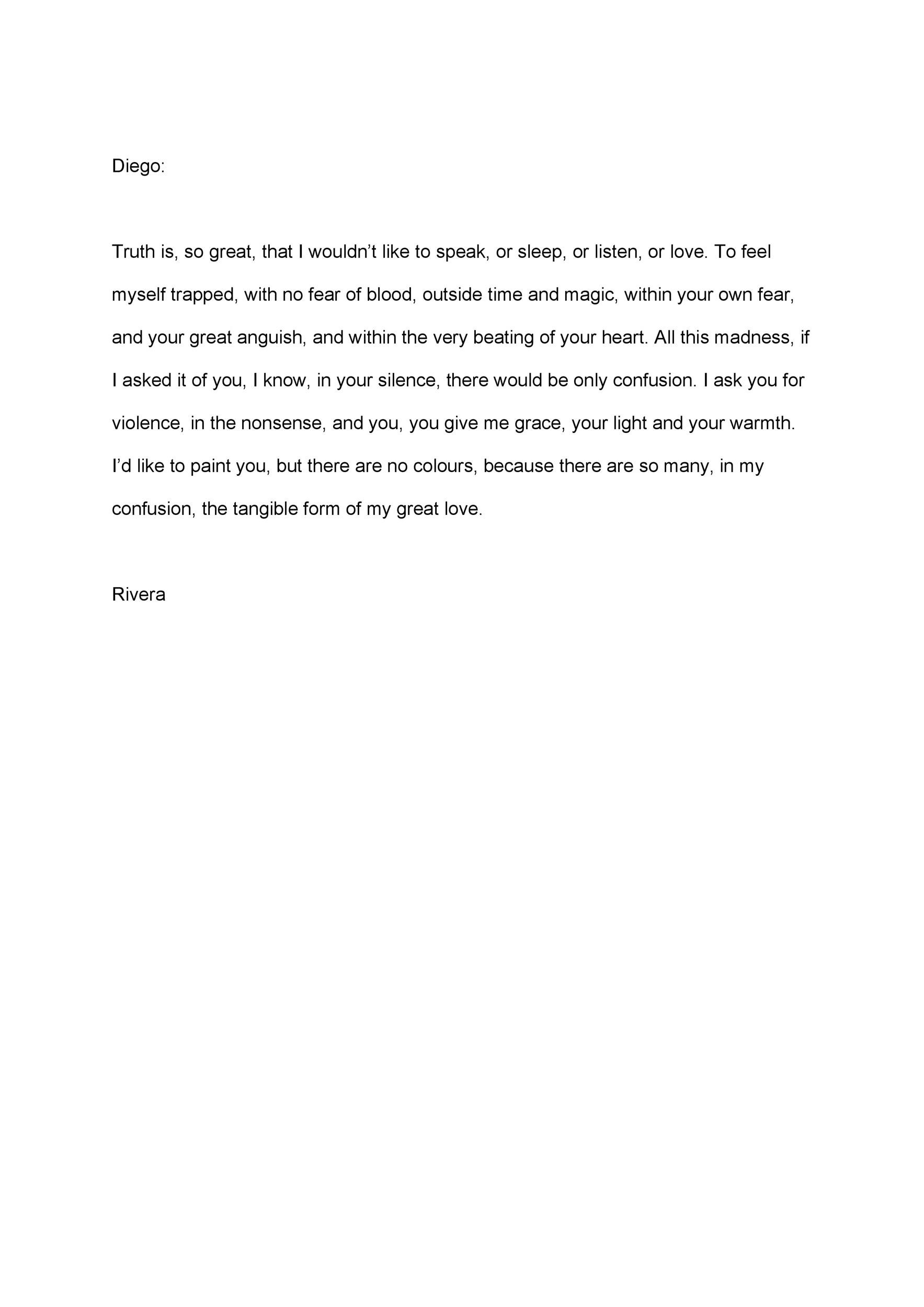 Free Love Letter Template 26