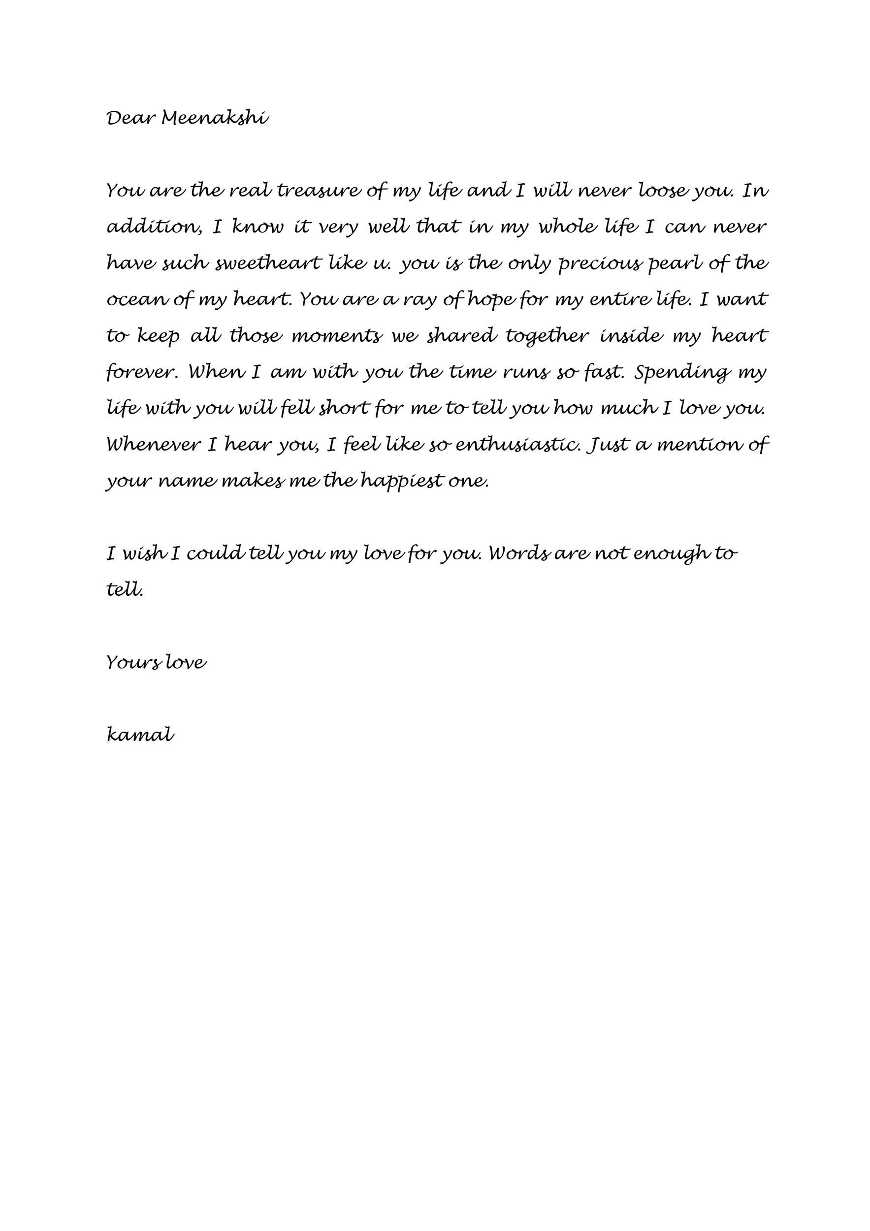 Free Love Letter Template 30