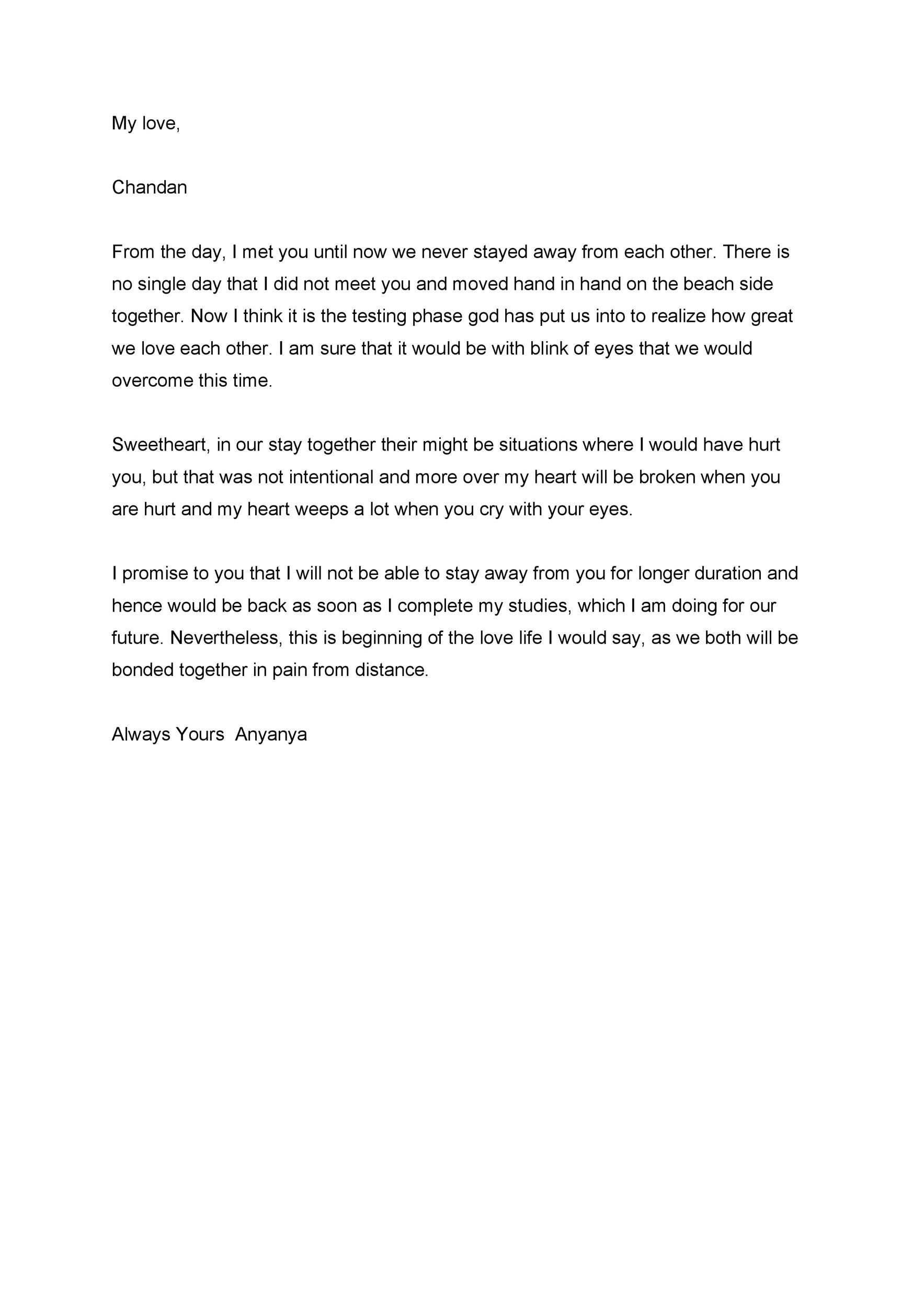 Free Love Letter Template 31