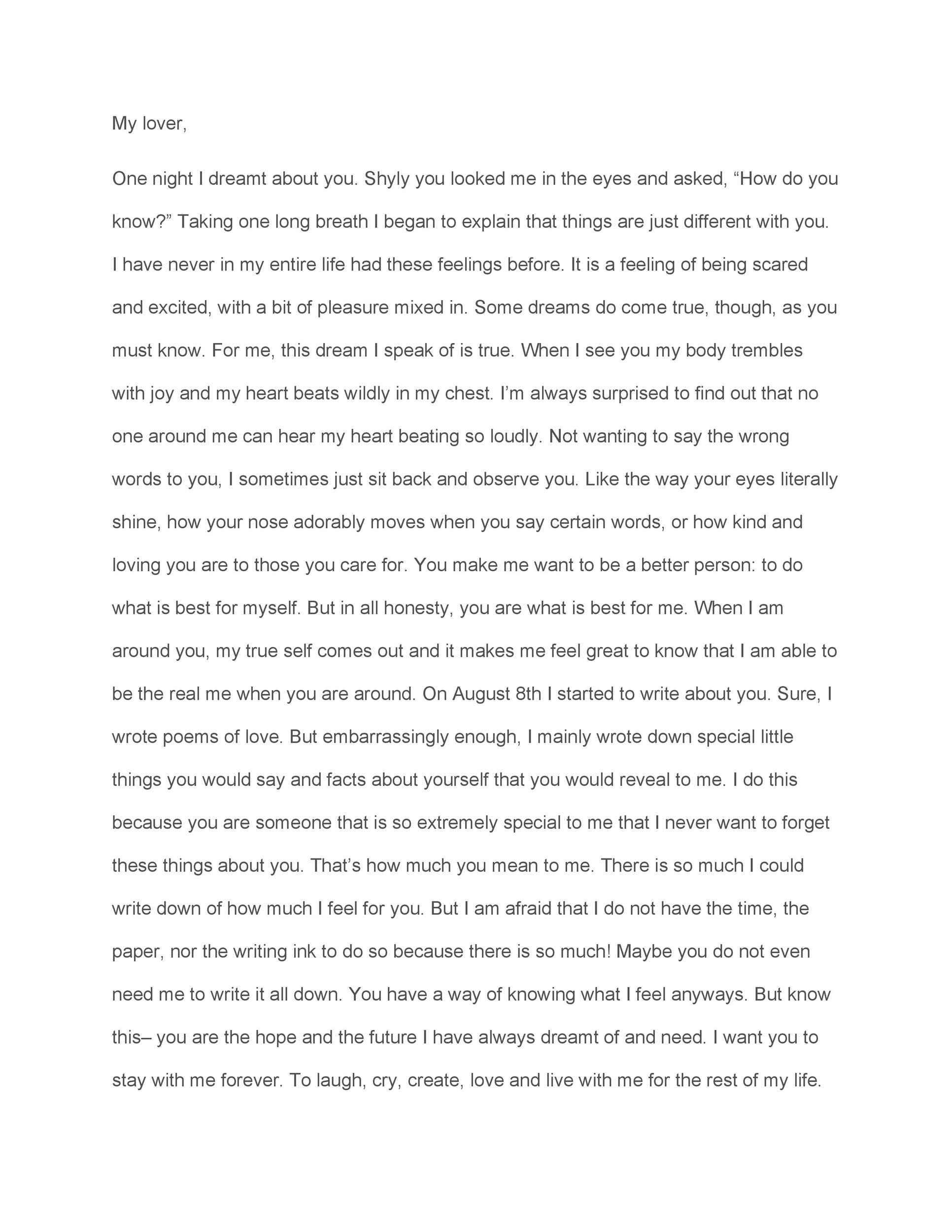 Printable Love Letter Template 41