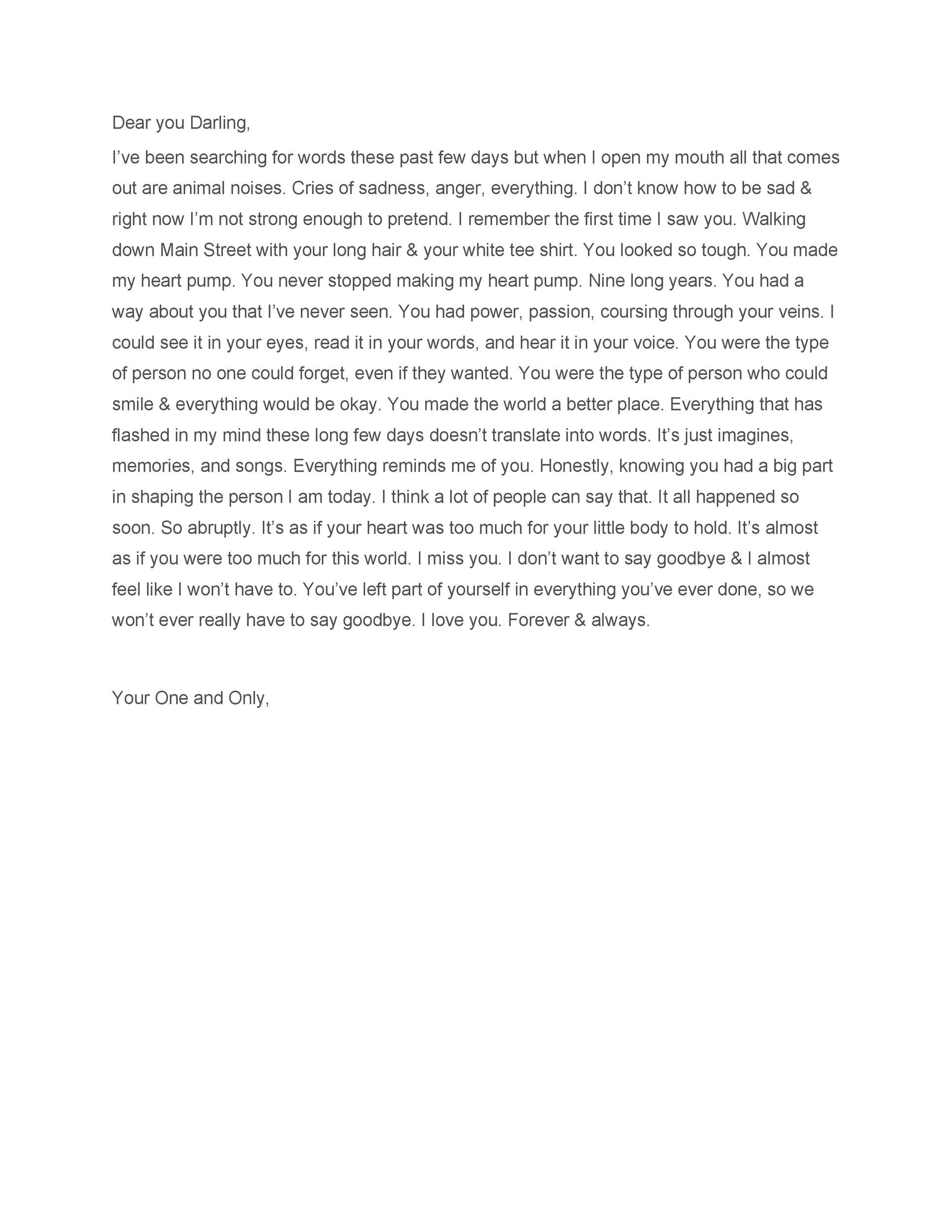 Free Love Letter Template 43