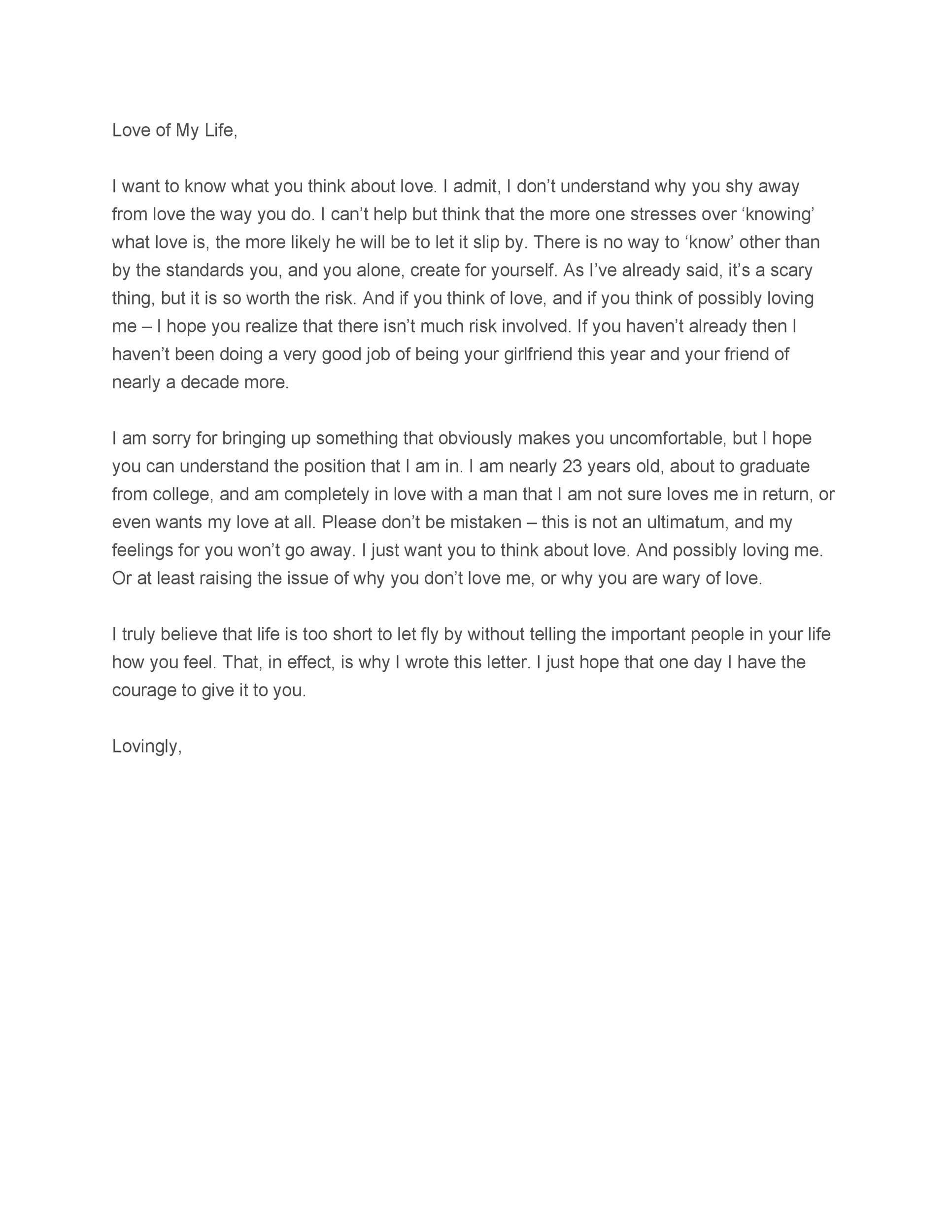 Letter to your fiance
