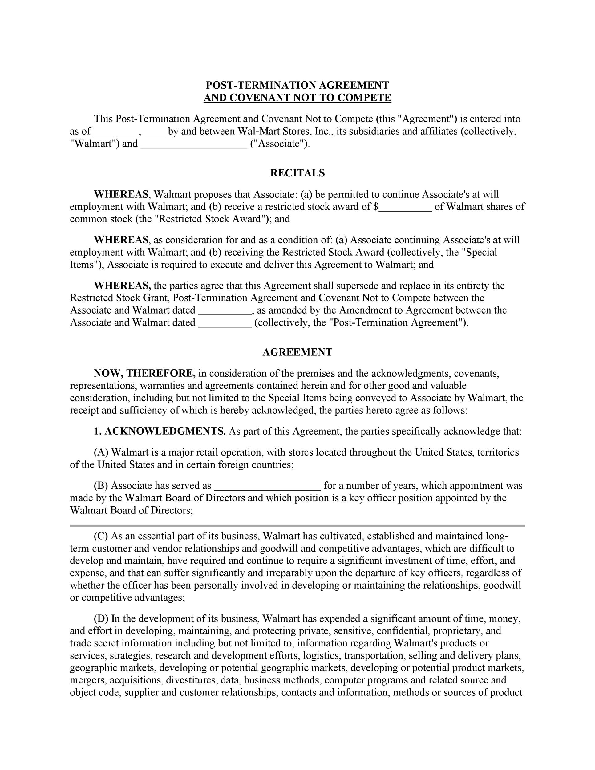 Free Non-Compete Agreement Template 08
