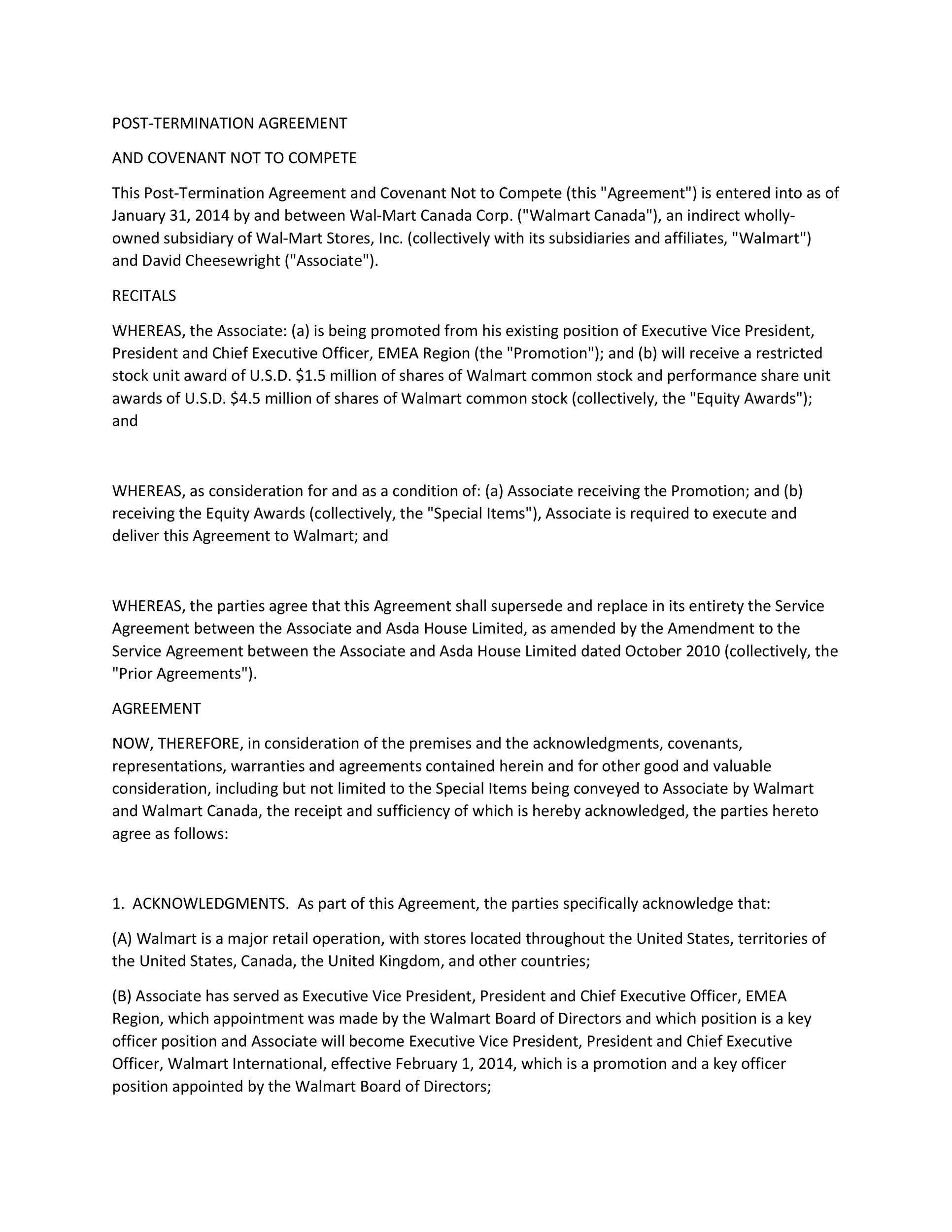 Free Non Compete Agreement Template 10