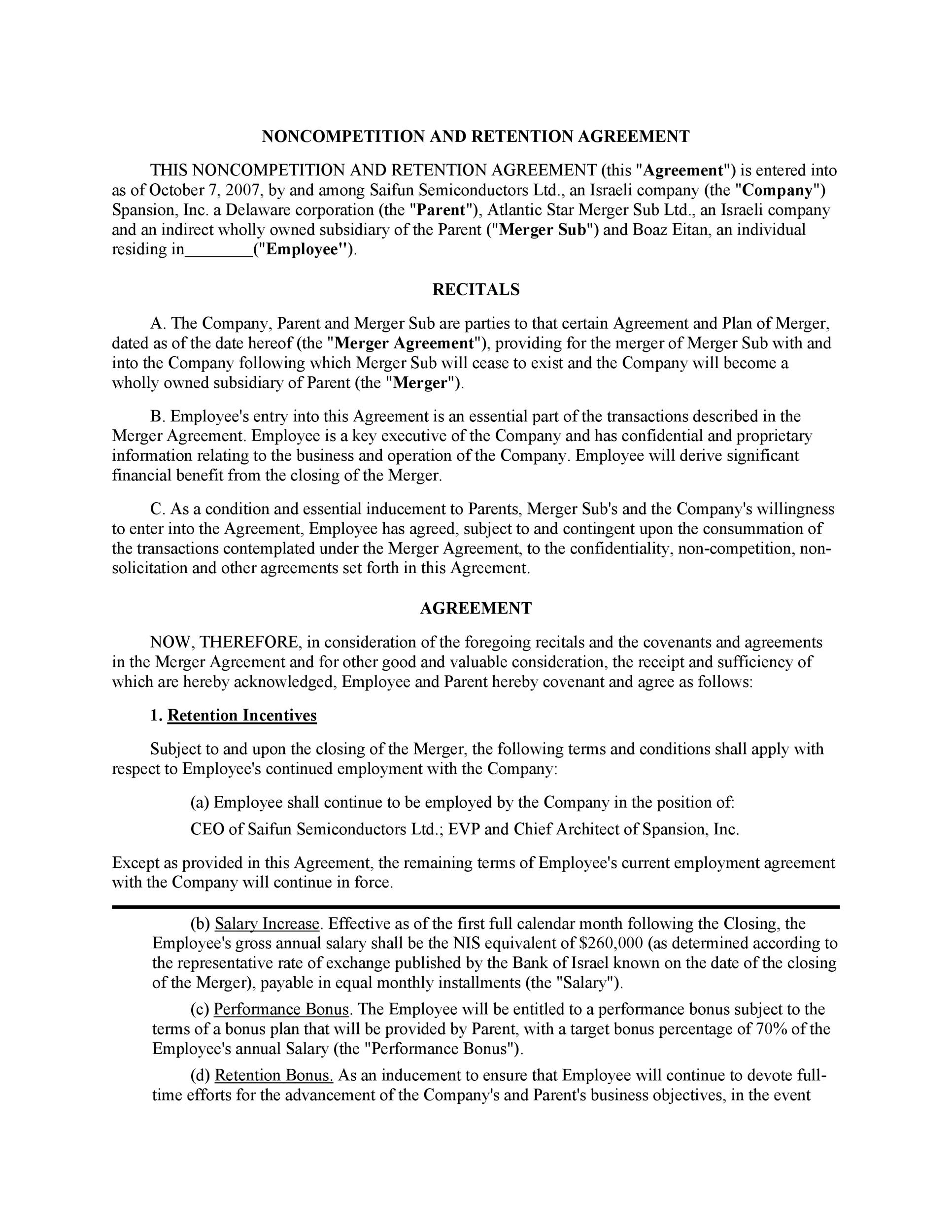 Non-Compete Agreement Template 14