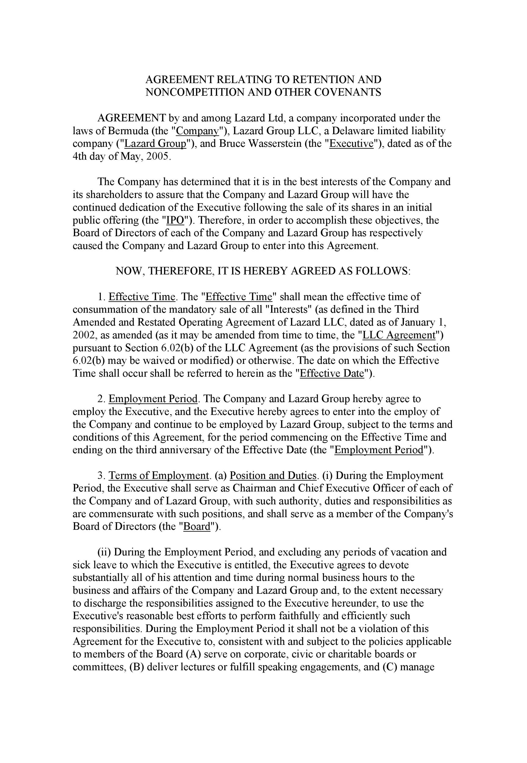 Free Non-Compete Agreement Template 25