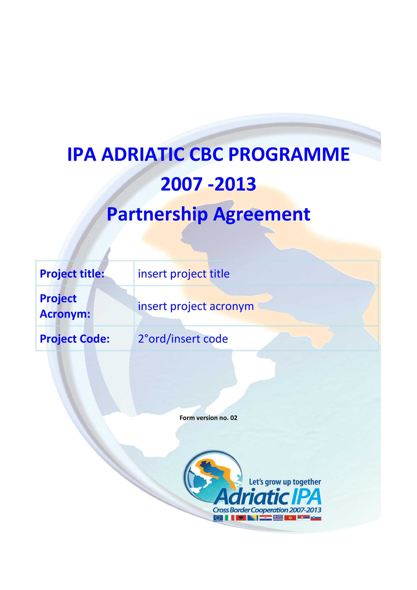 Free Partnership Agreement Template 10