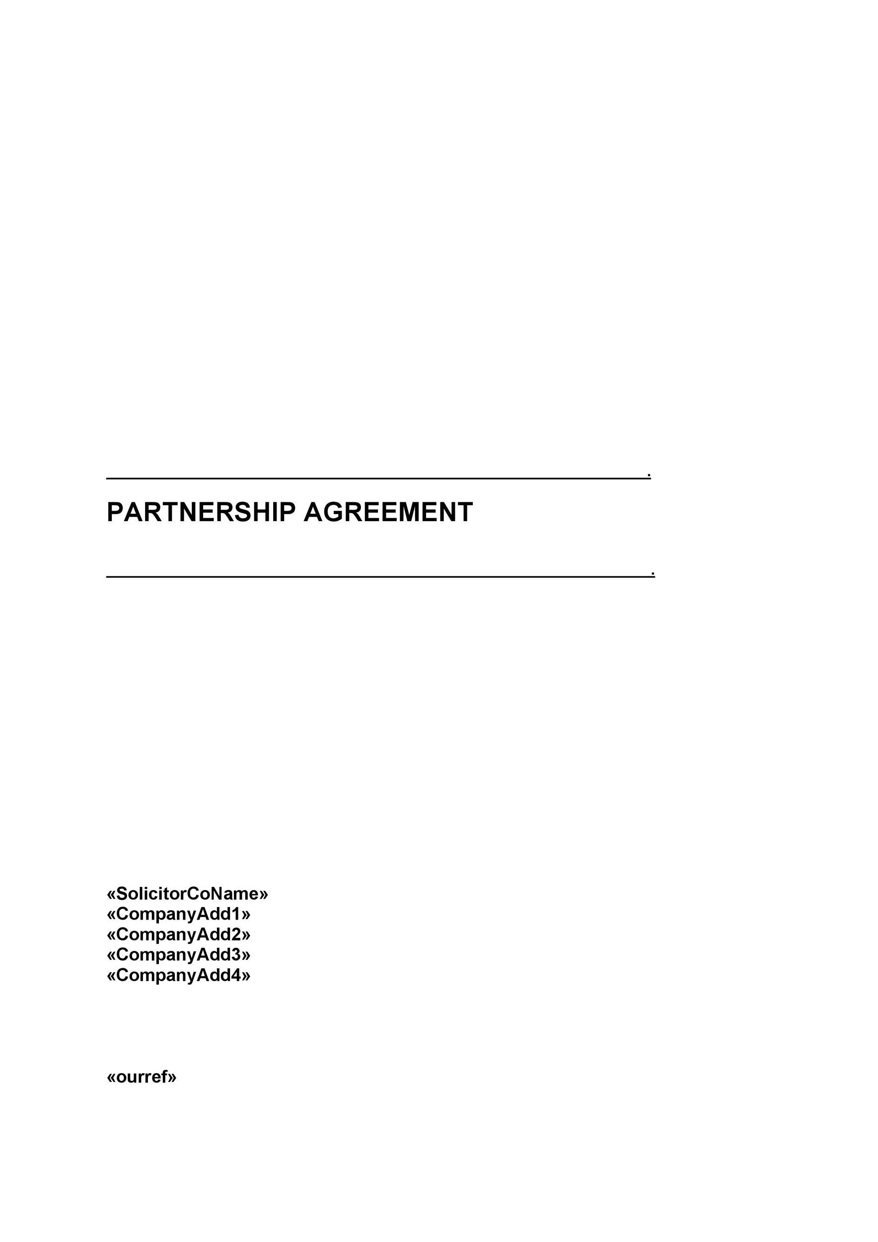 Free Partnership Agreement Template 15