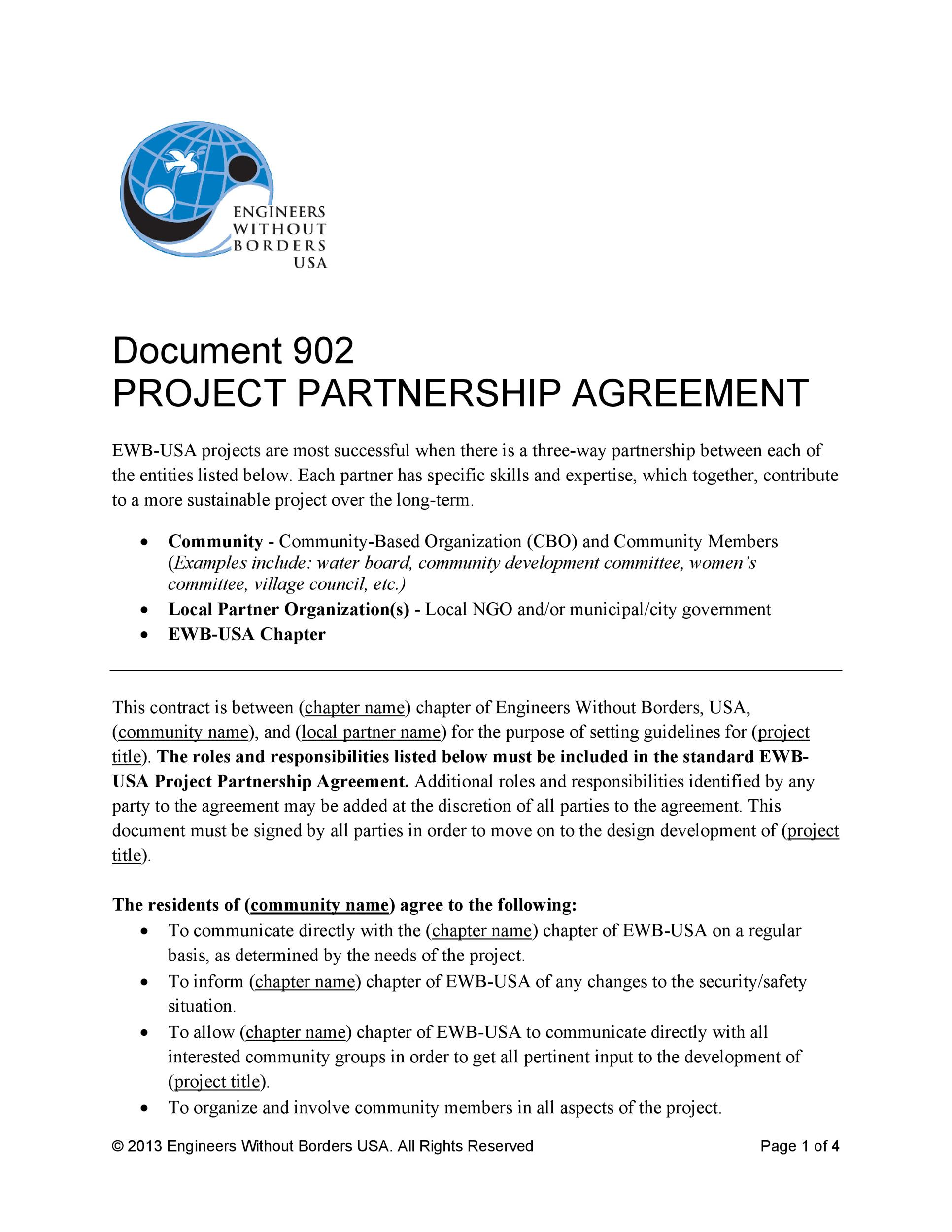 Free Partnership Agreement Template 16