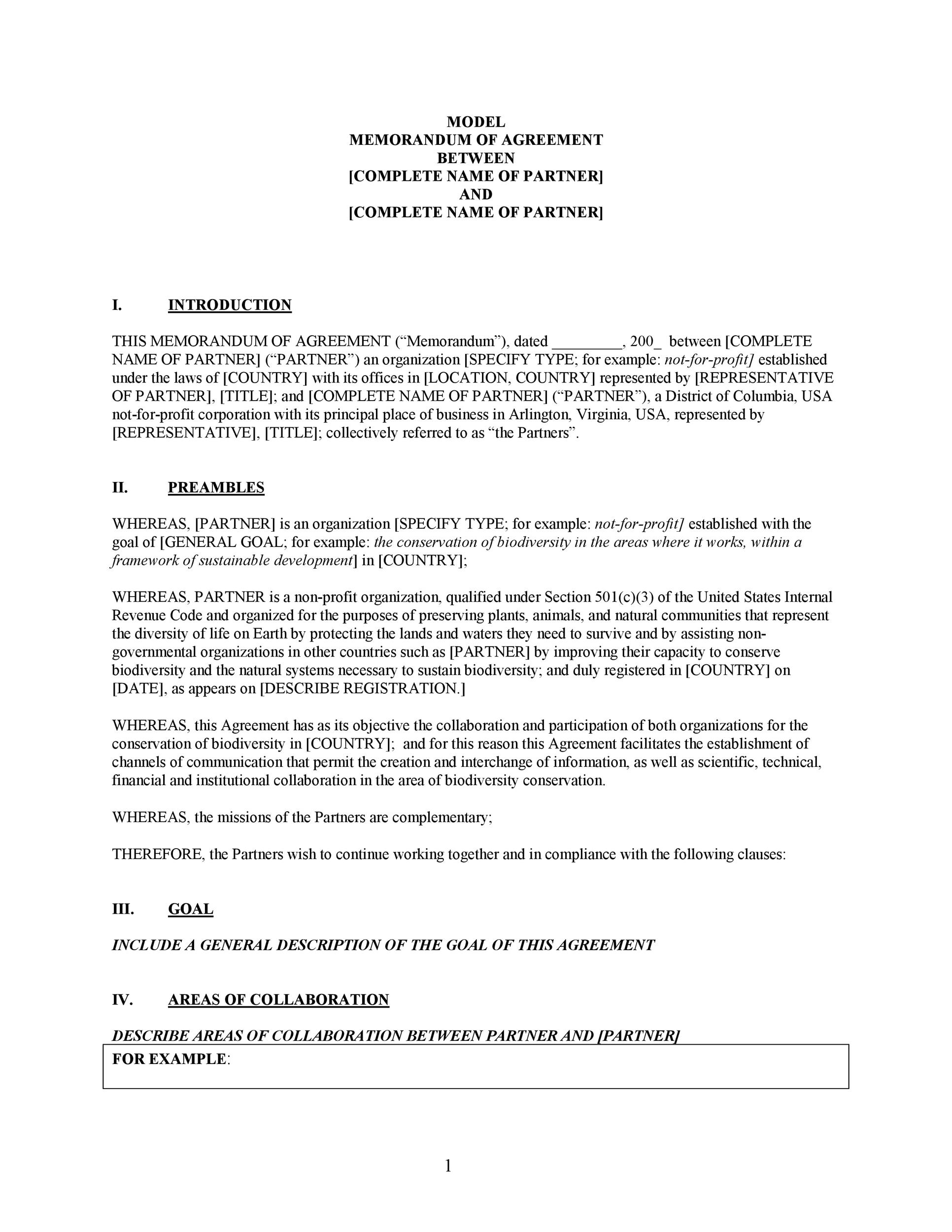 Free Partnership Agreement Template 17
