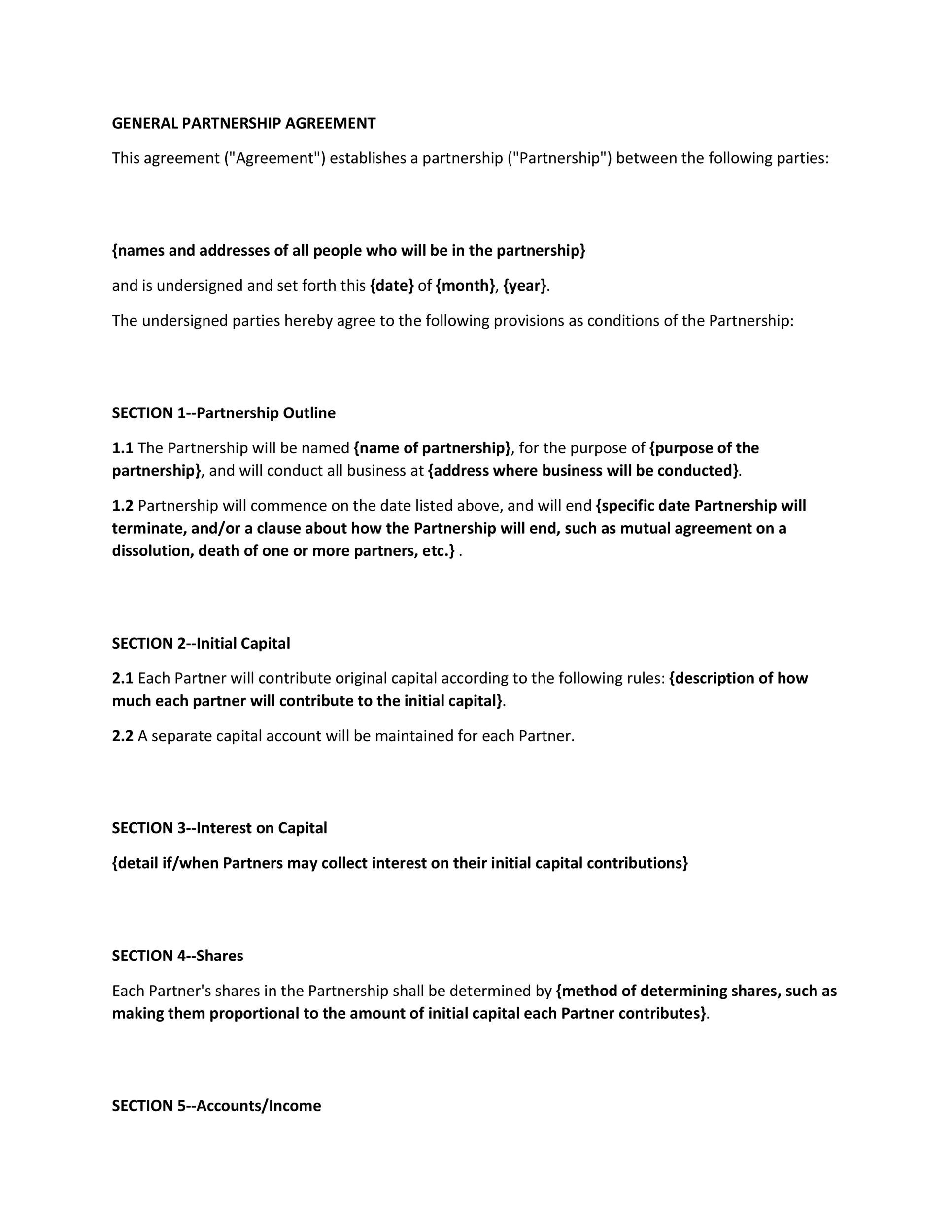 Free Partnership Agreement Template 19
