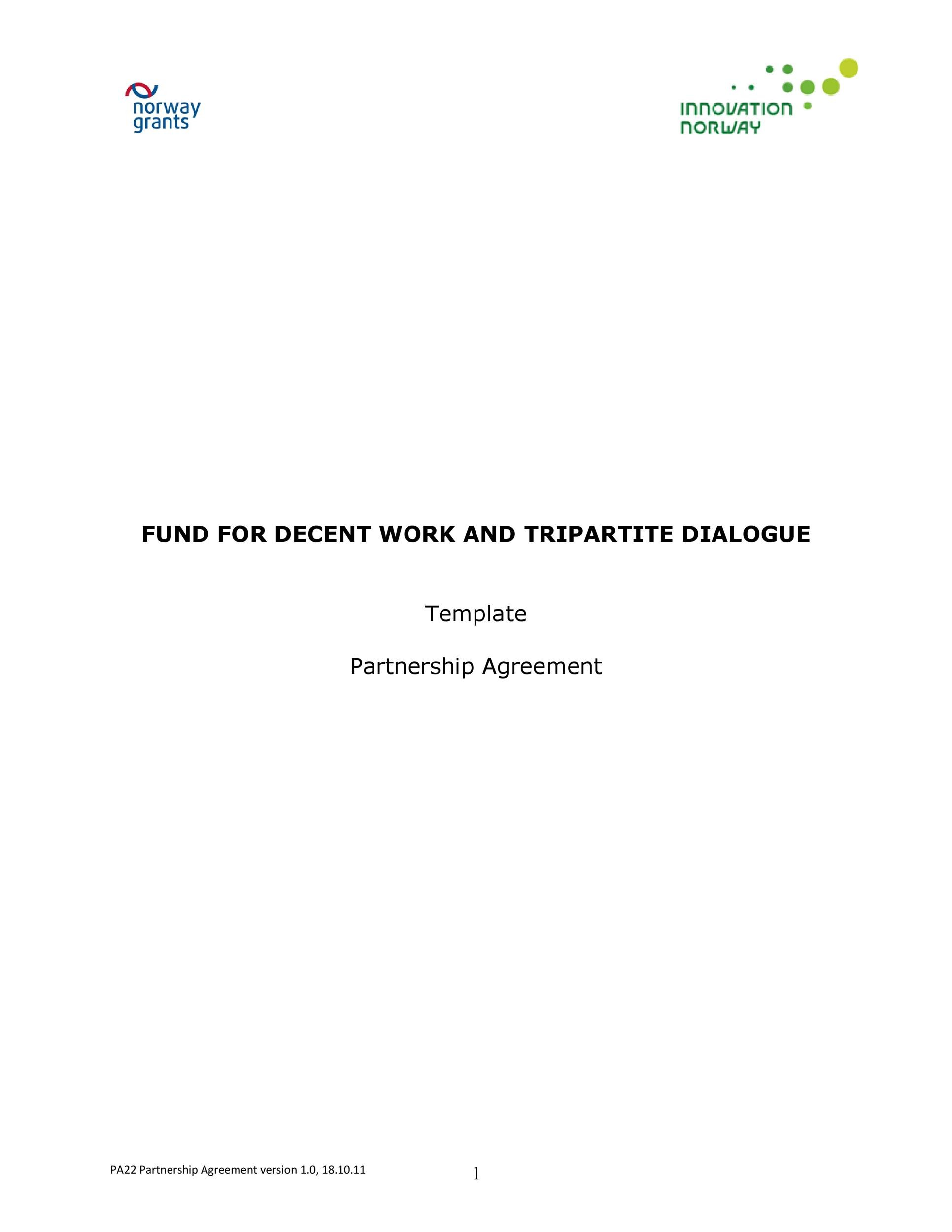Free Partnership Agreement Template 24