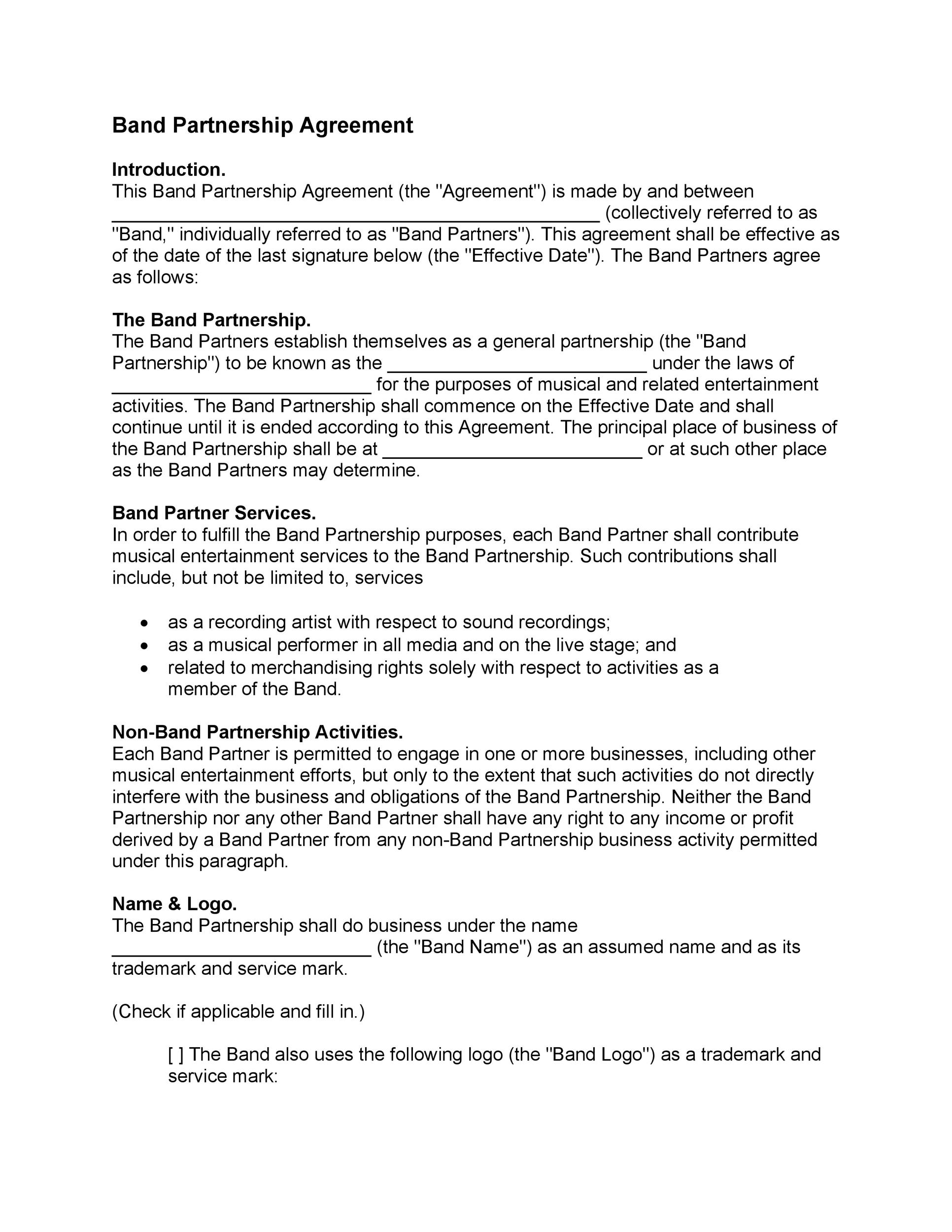 Printable Partnership Agreement Template 25