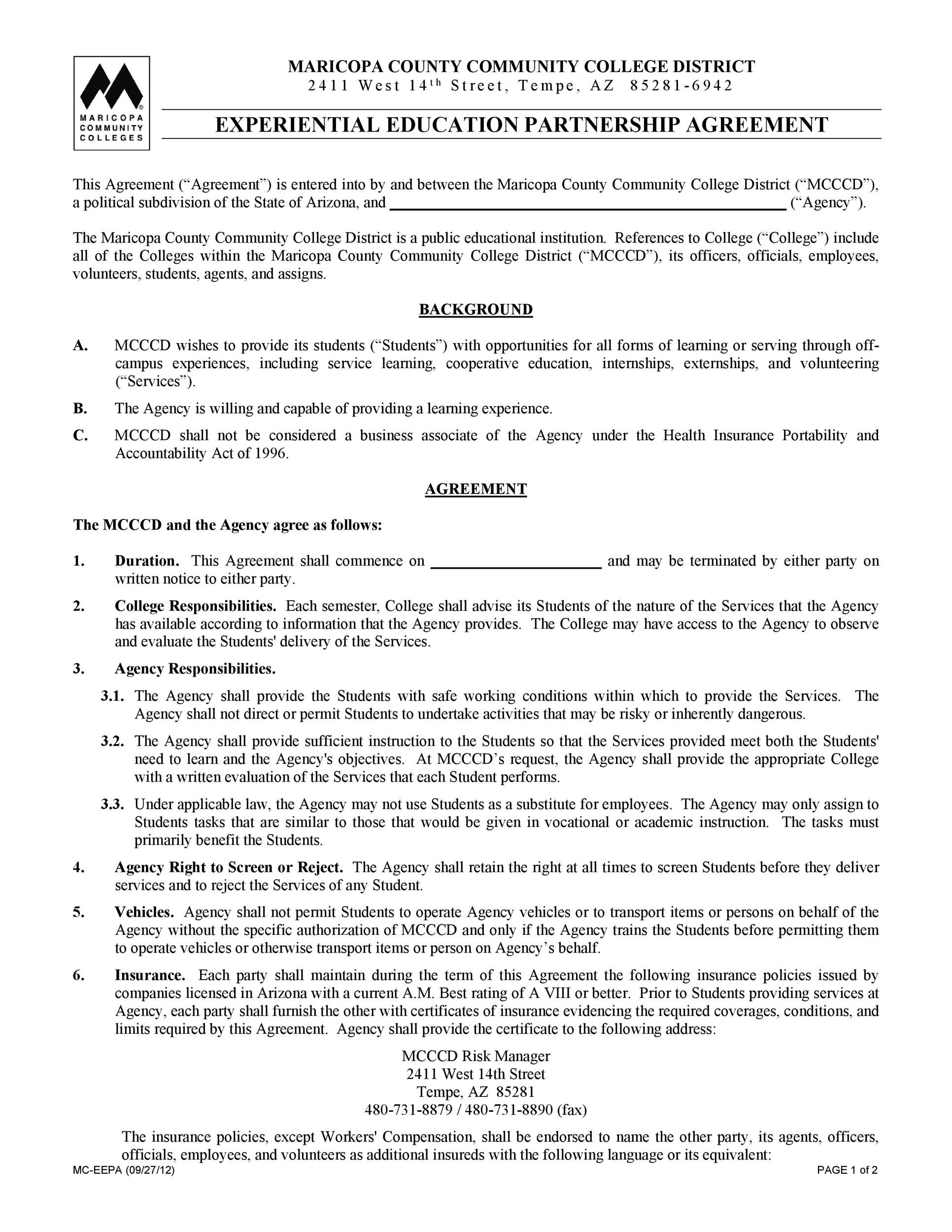 Free Partnership Agreement Template 26