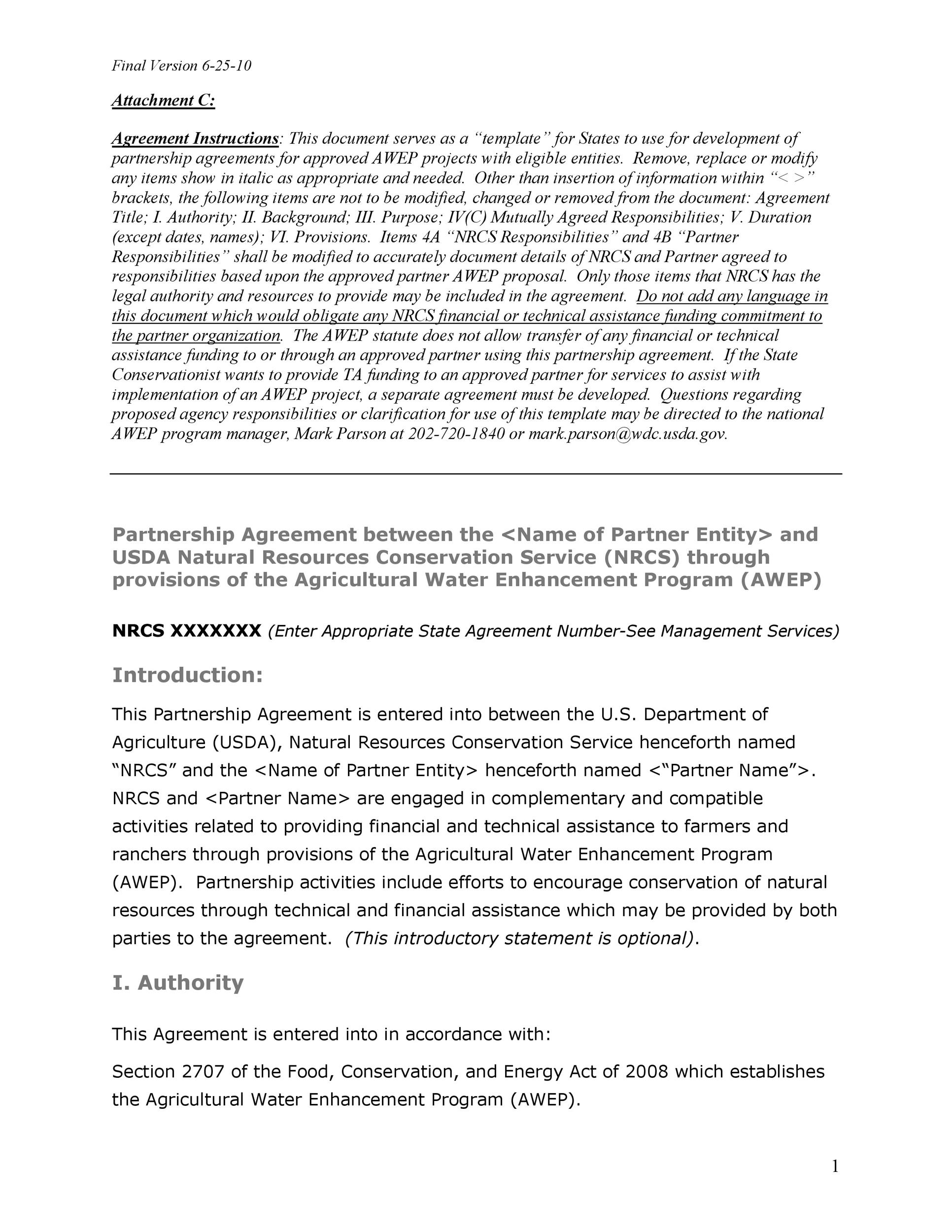 Free Partnership Agreement Template 32
