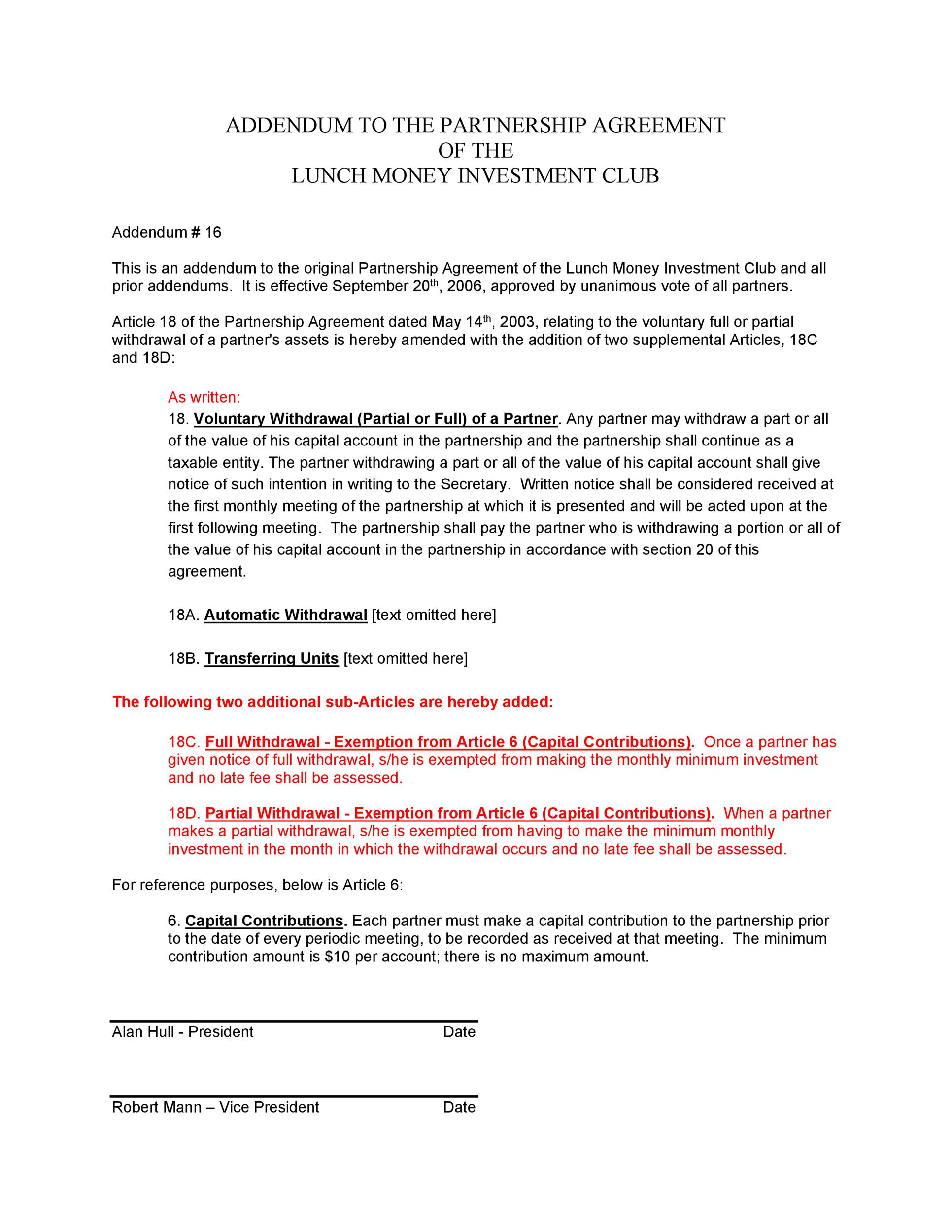 Free Partnership Agreement Template 33