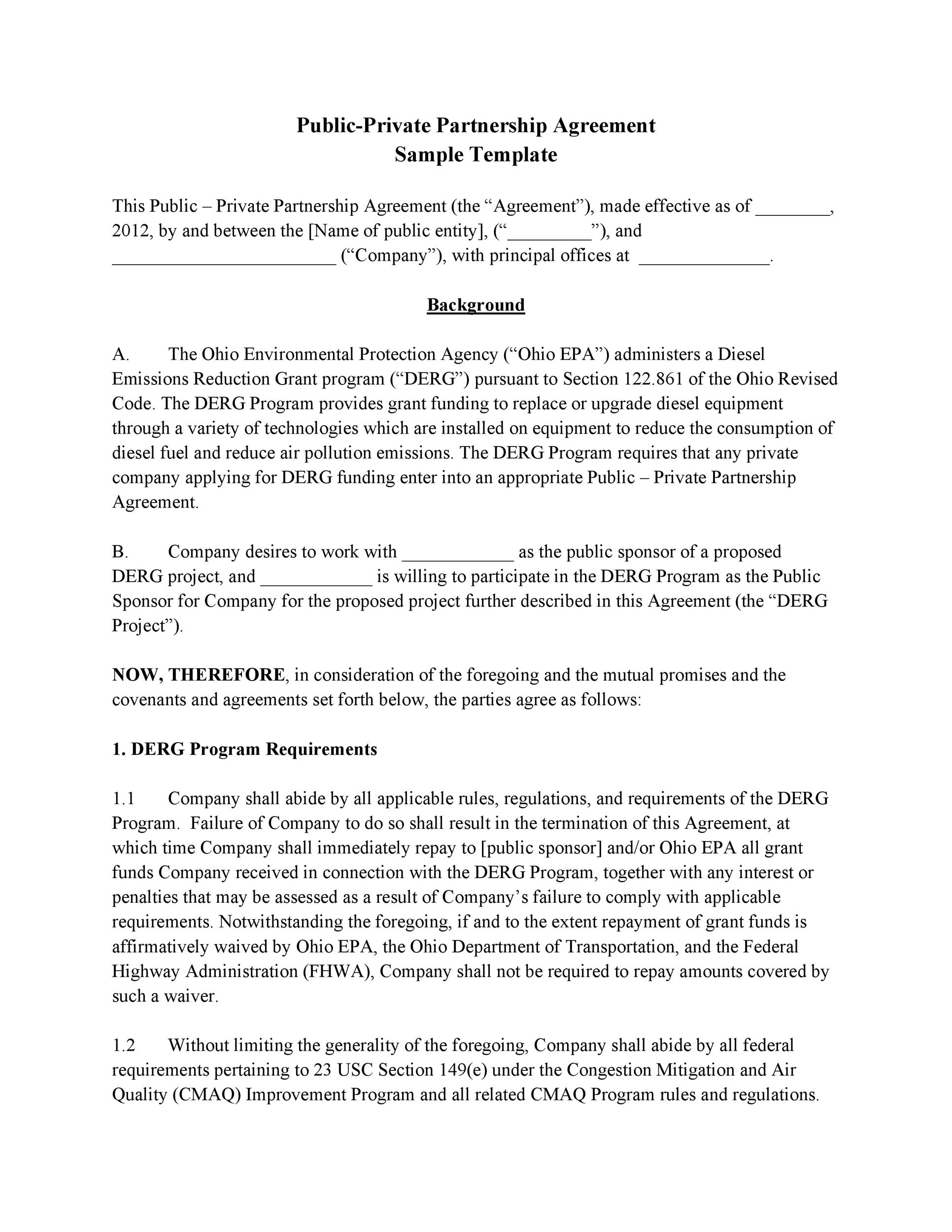 Free Partnership Agreement Template 35
