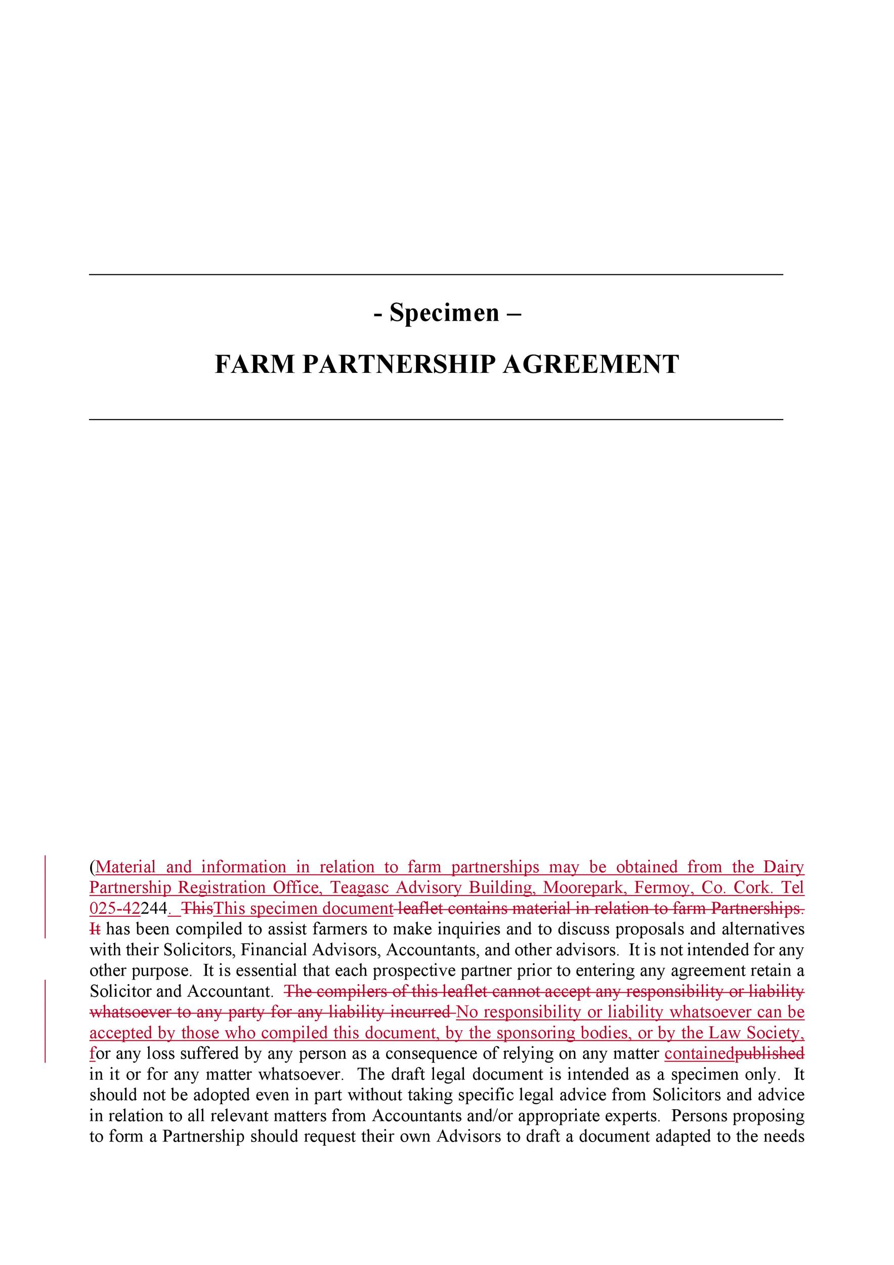 Free Partnership Agreement Template 37