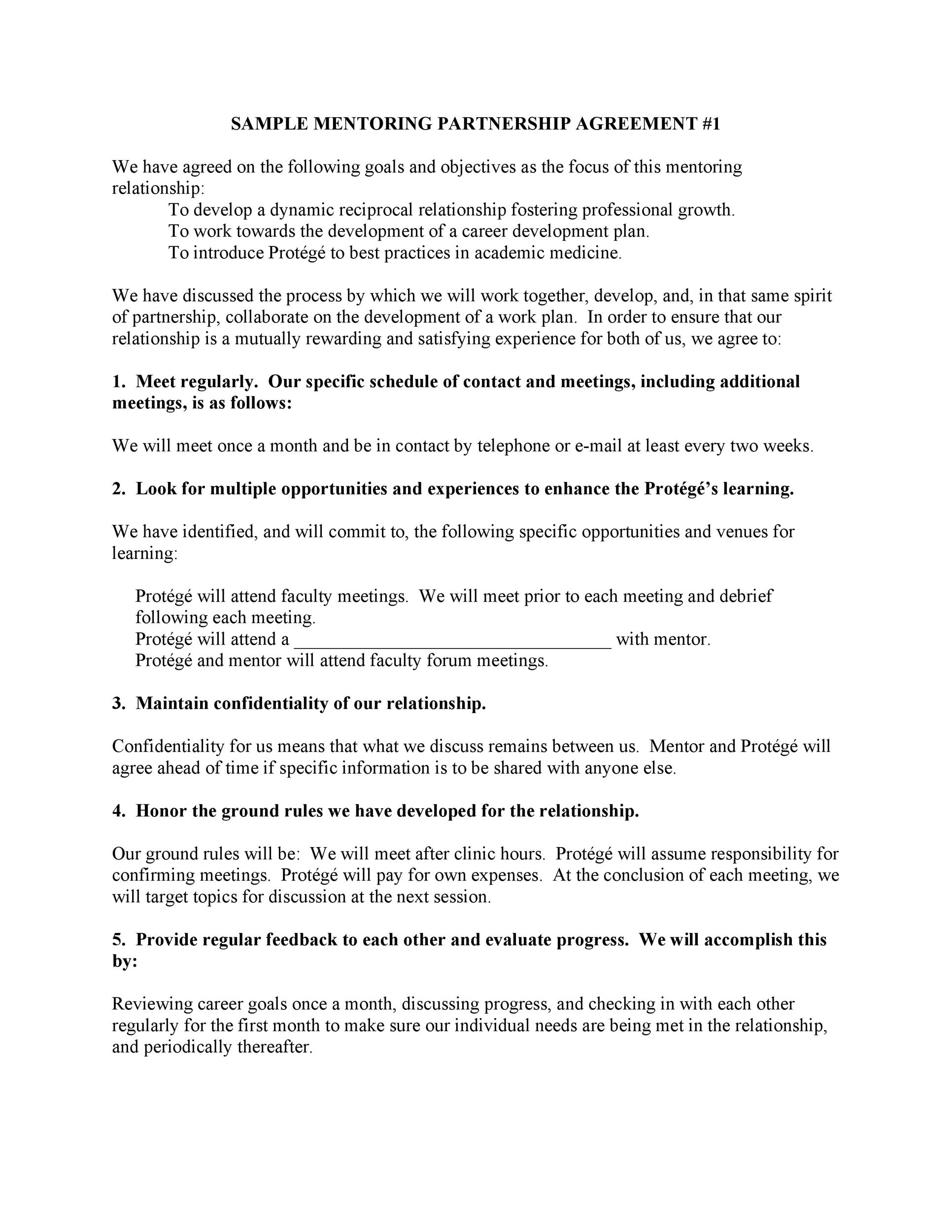 Free Partnership Agreement Template 42
