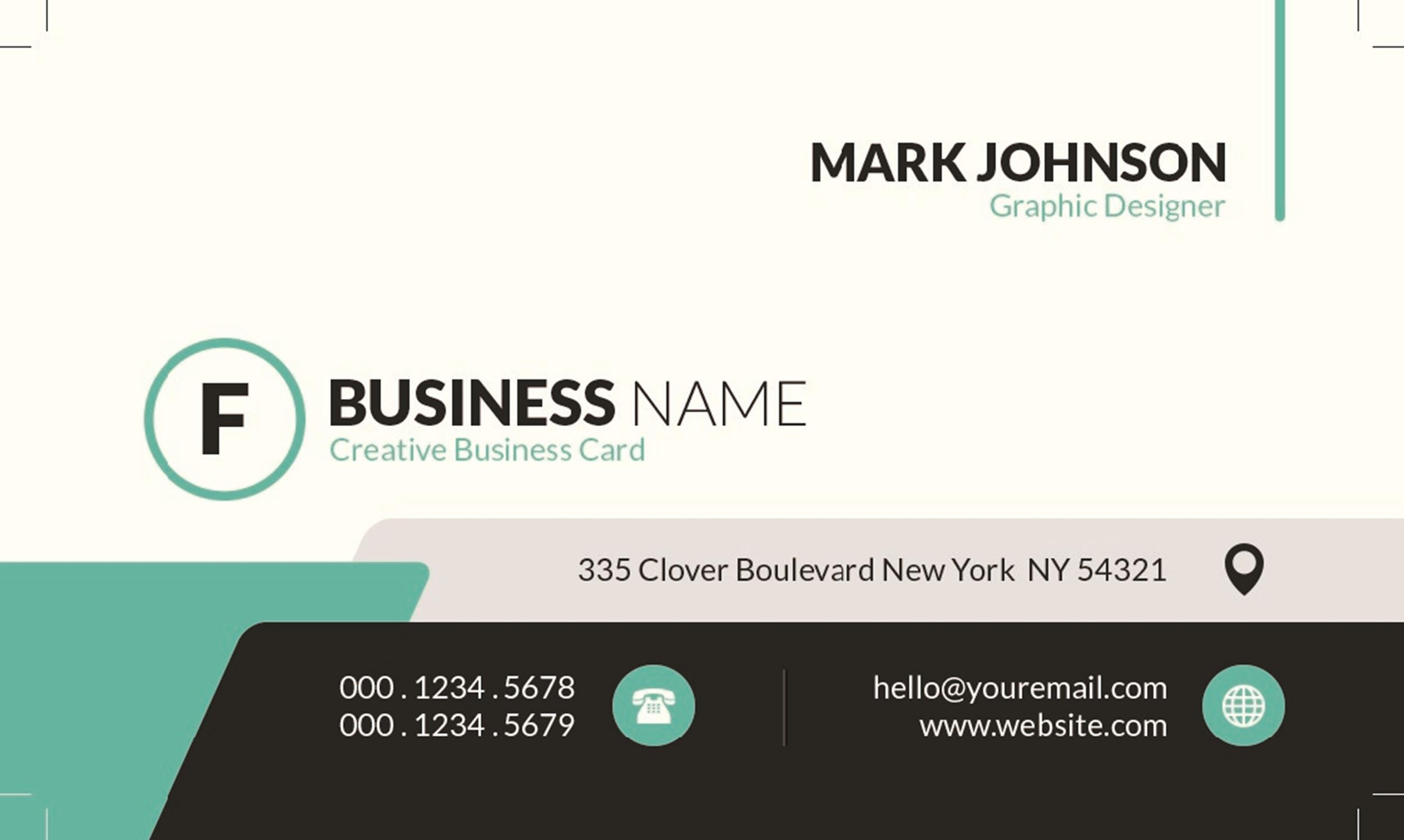 Free business card template 12