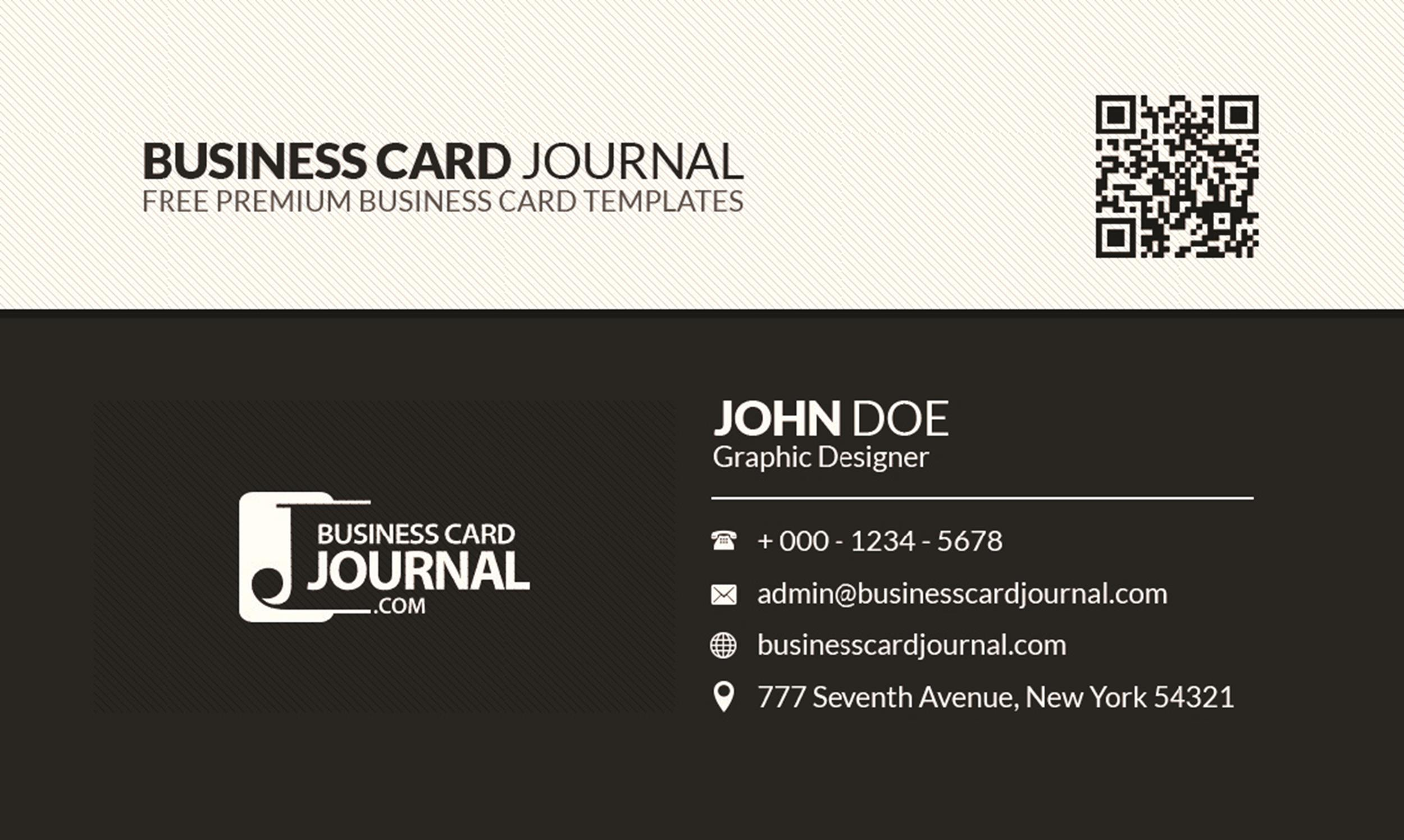 Free business card template 13
