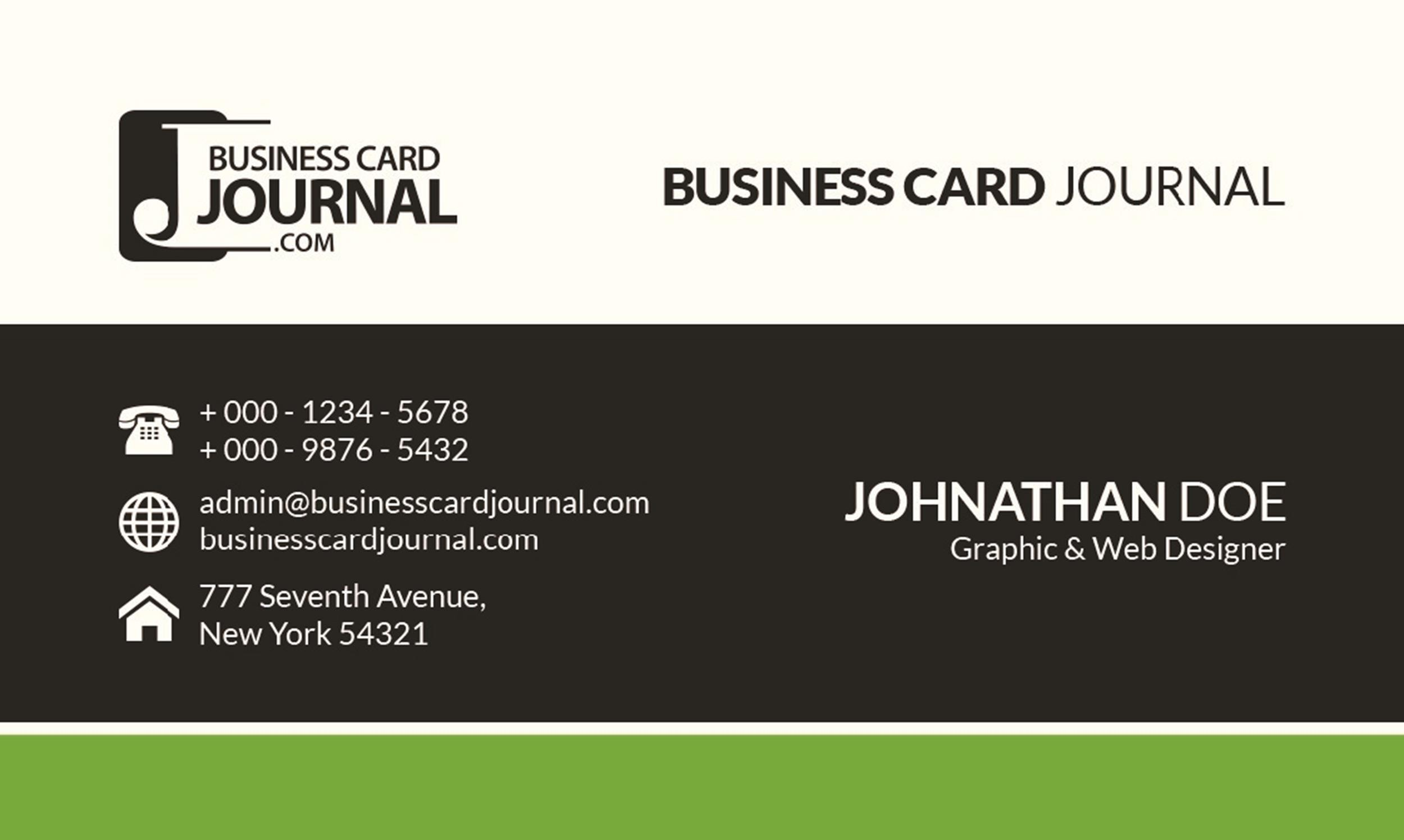 Free business card template 15