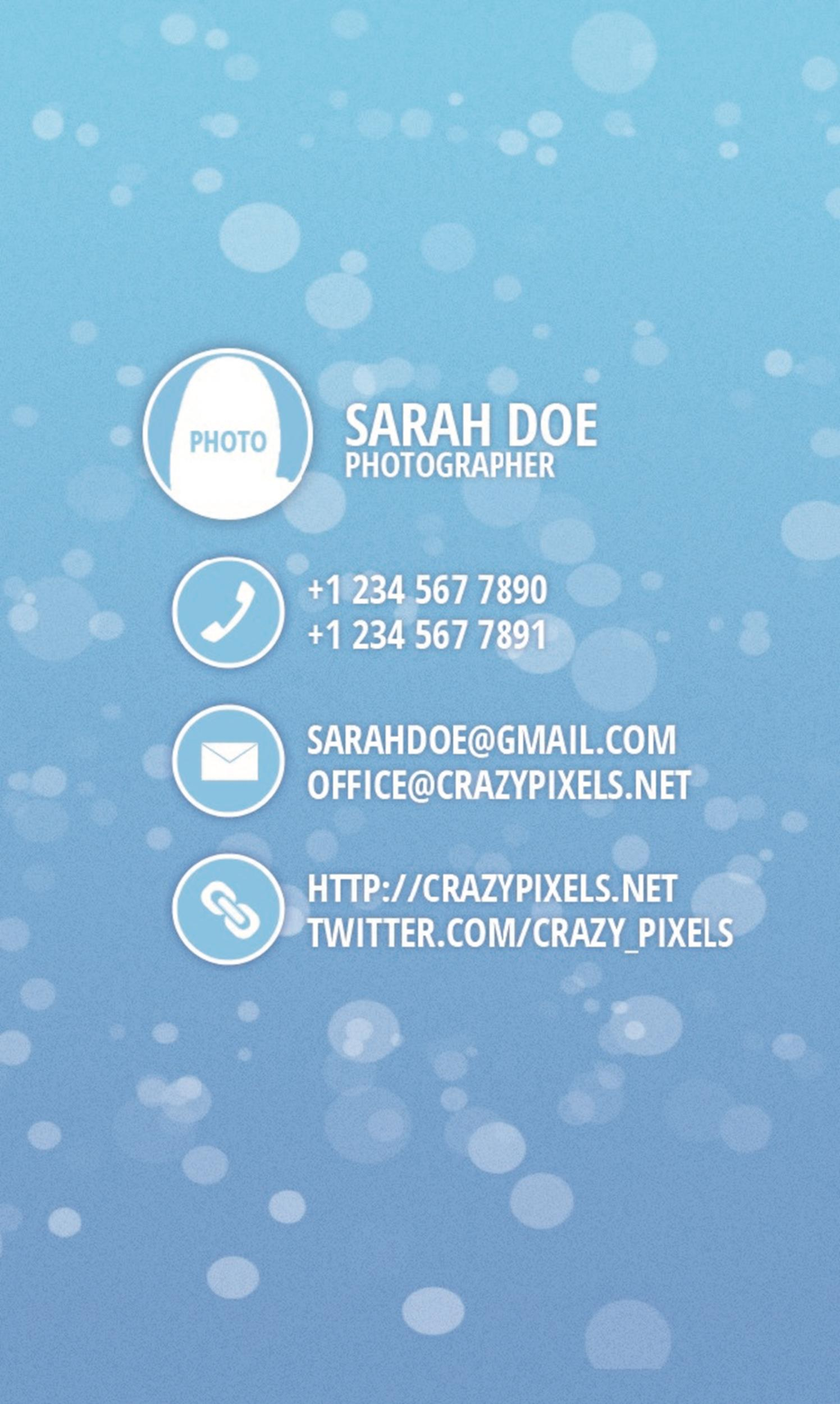 Free business card template 19