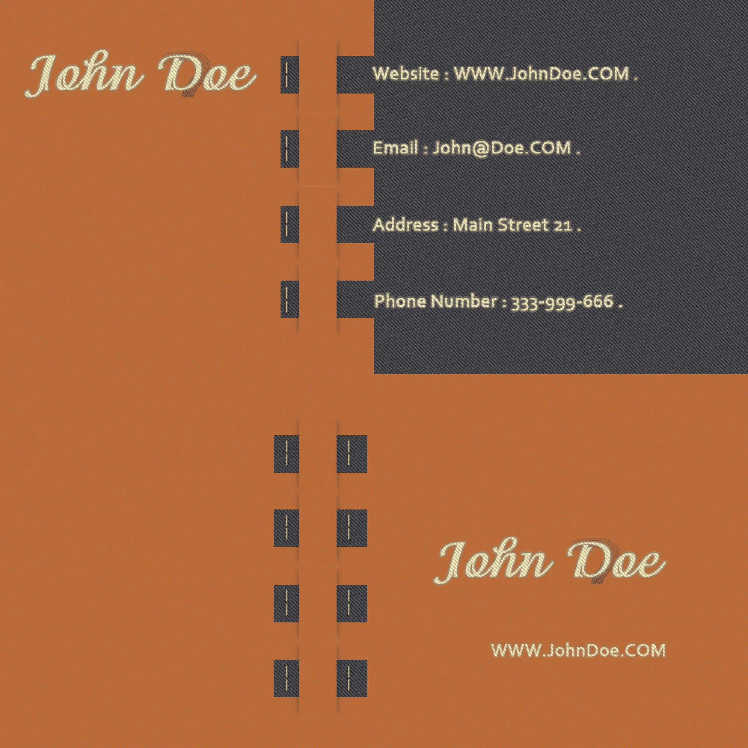 Free business card template 20