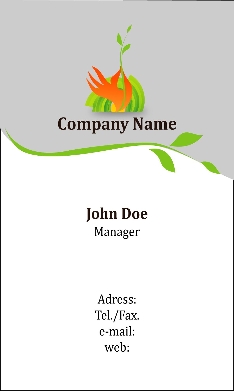 Free business card template 21
