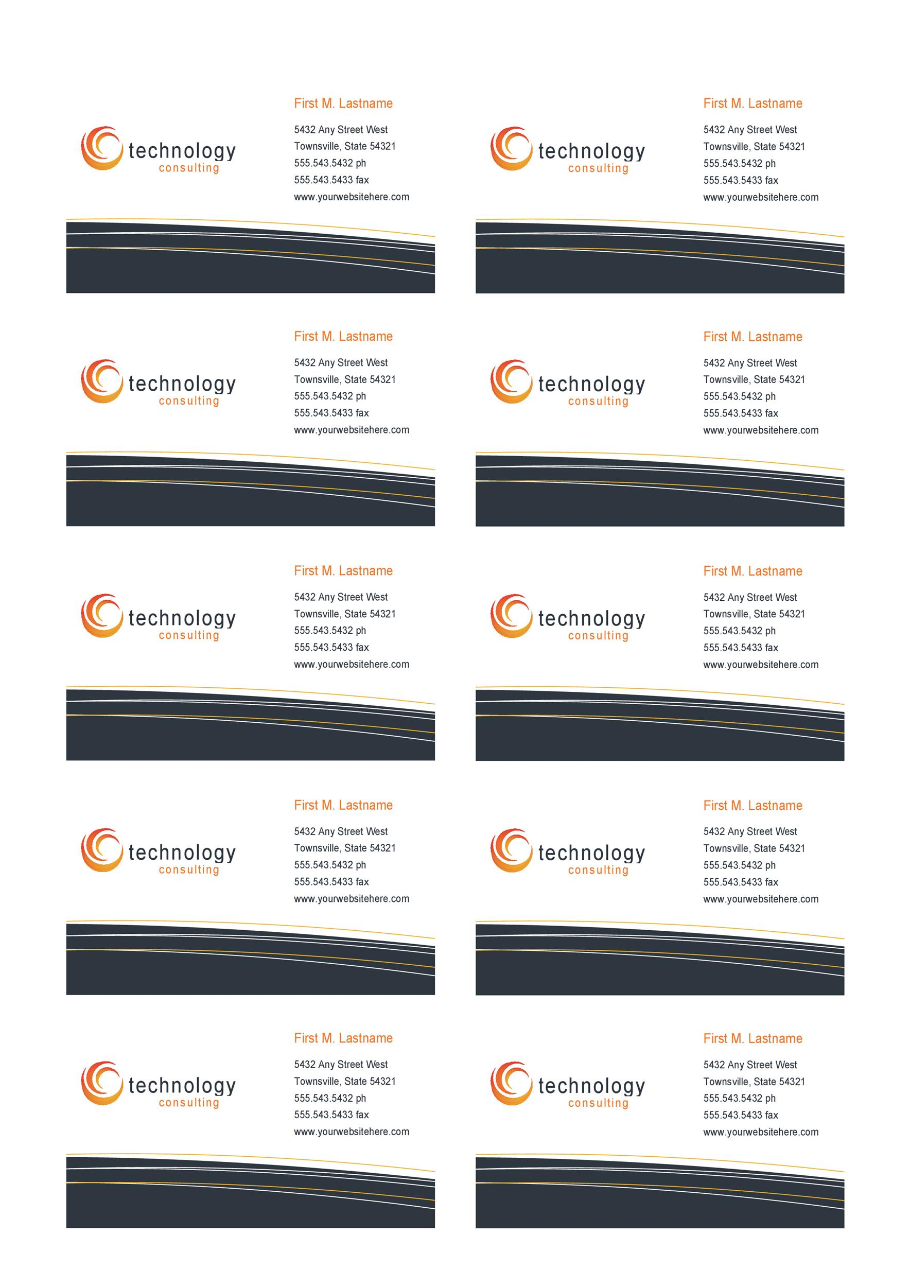 Free business card template 26