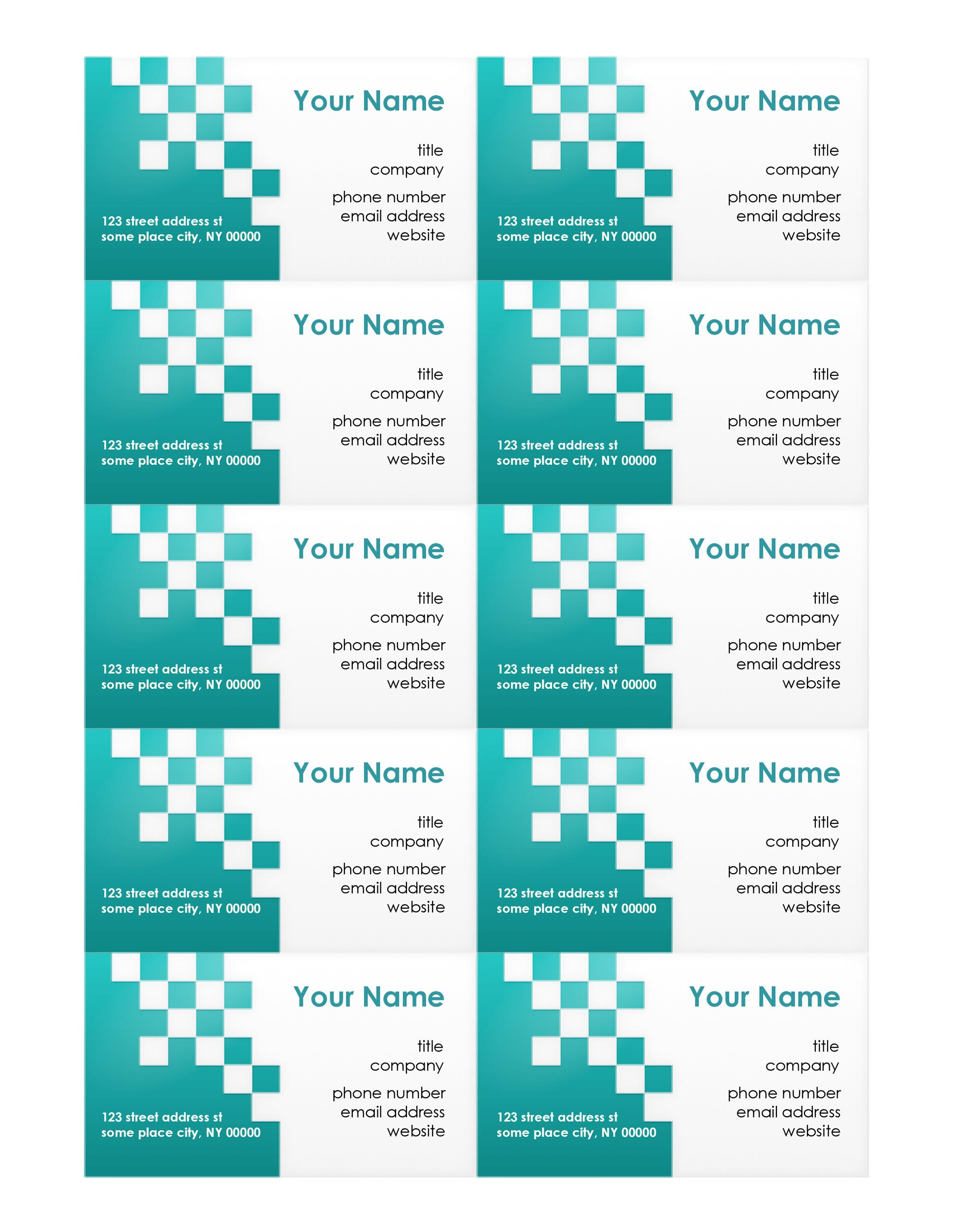 Free business card template 29