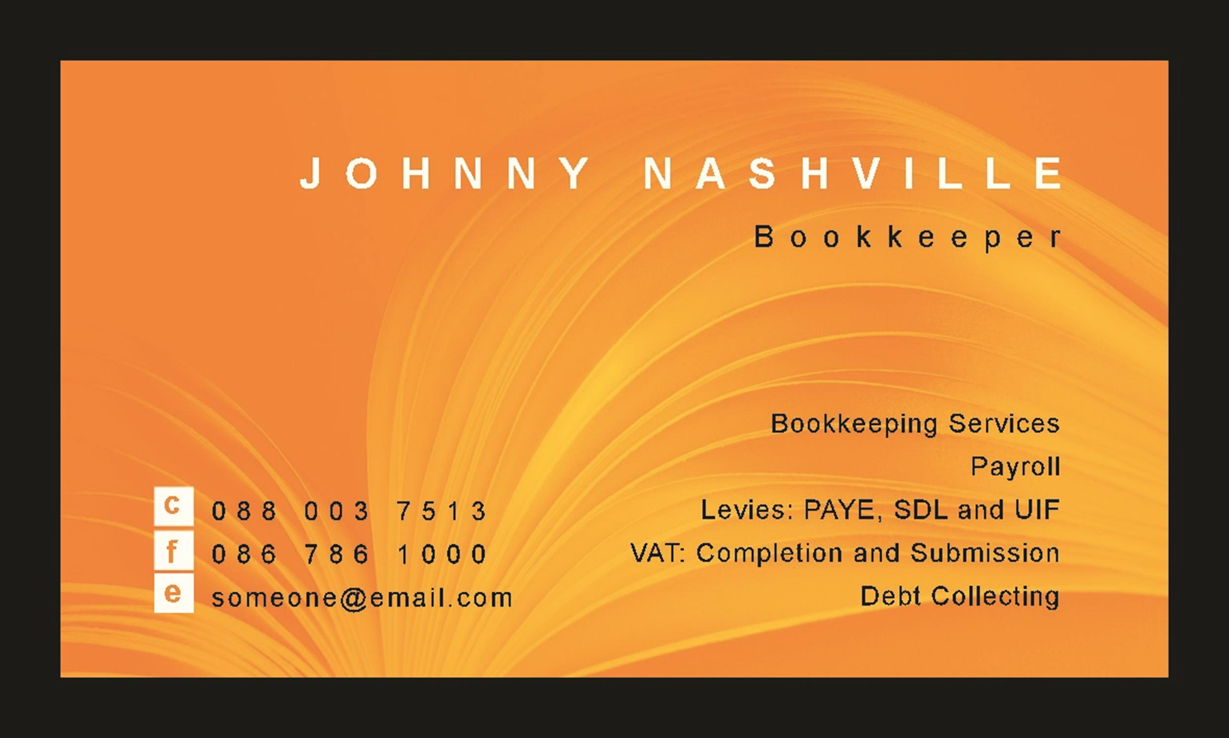 Free business card template 34